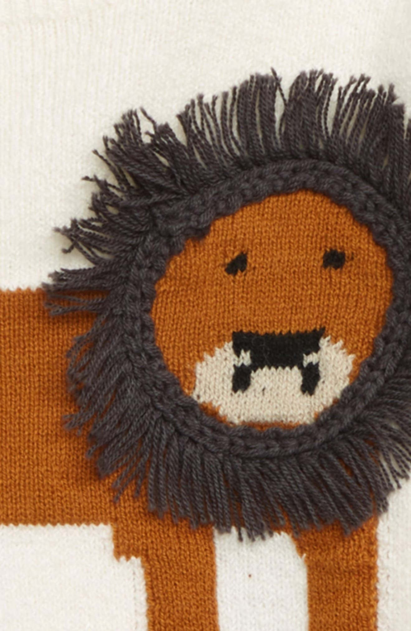 Zoo Animal Sweater,                             Alternate thumbnail 3, color,                             IVORY EGRET ZOO ANIMALS