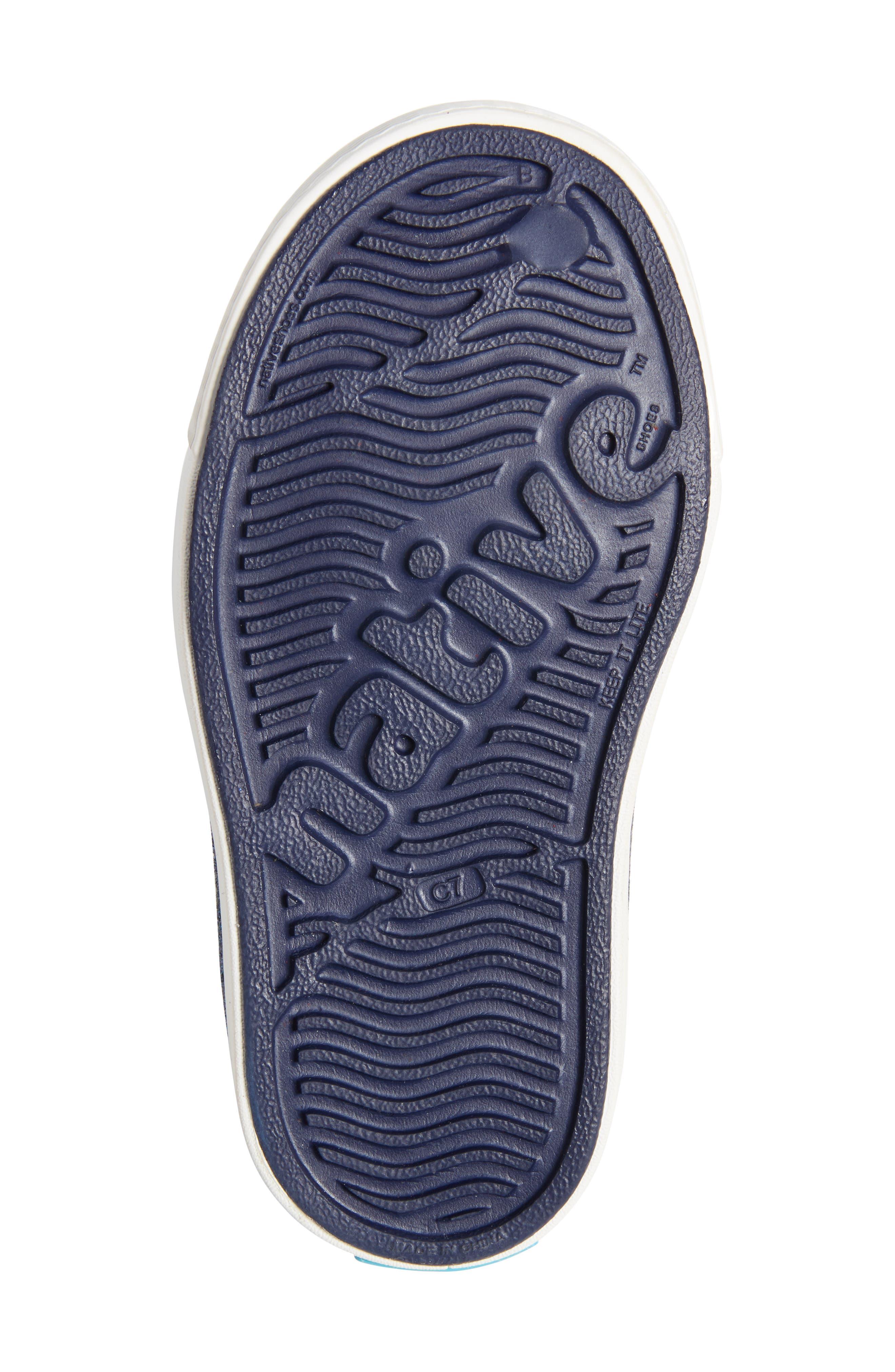 Juniper Bling Glitter Perforated Vegan Mary Jane,                             Alternate thumbnail 6, color,                             REGATTA BLUE/ SHELL WHITE