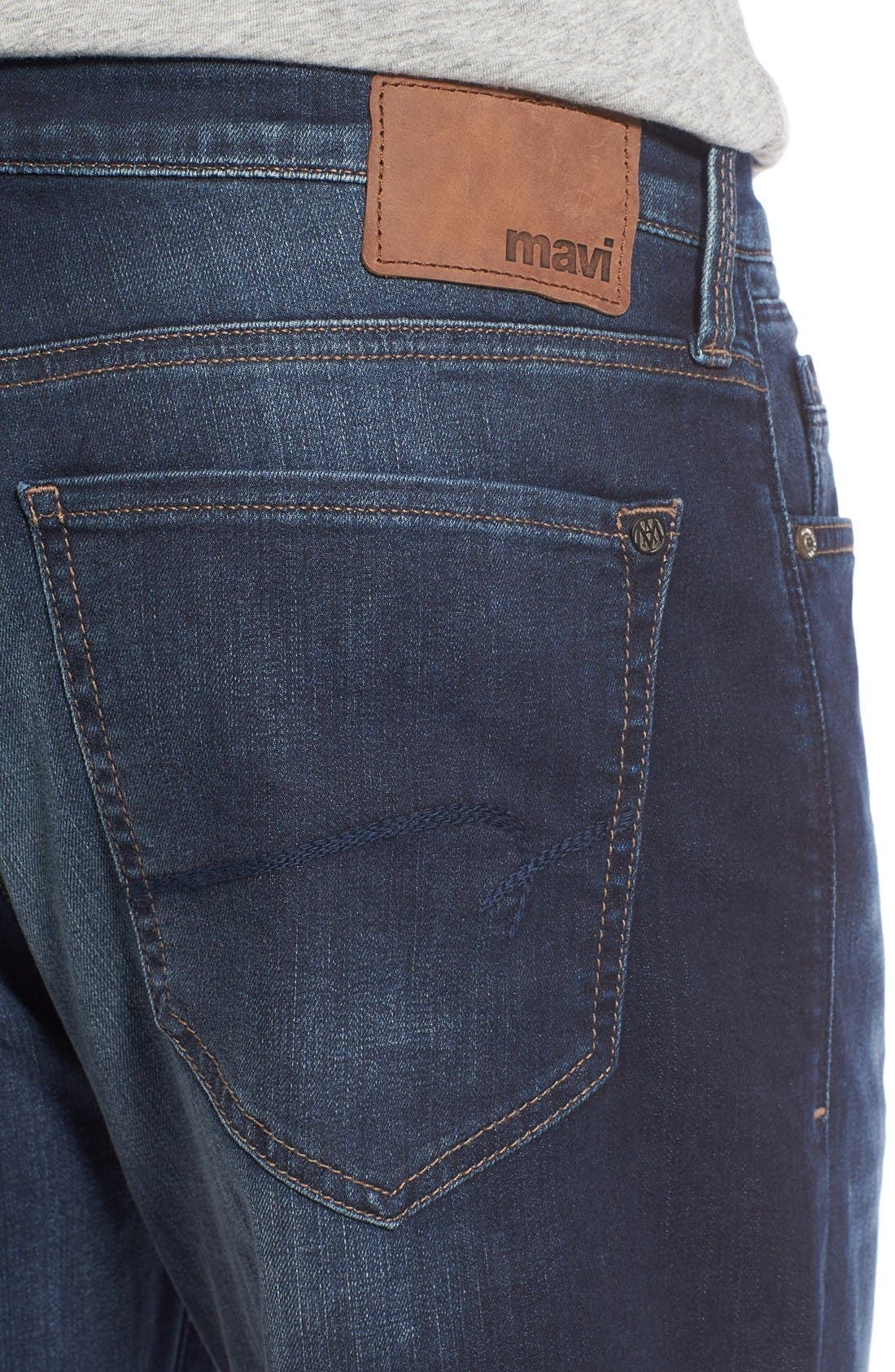 'Max' Relaxed Fit Jeans,                             Alternate thumbnail 9, color,                             DARK WILLIAMSBURG