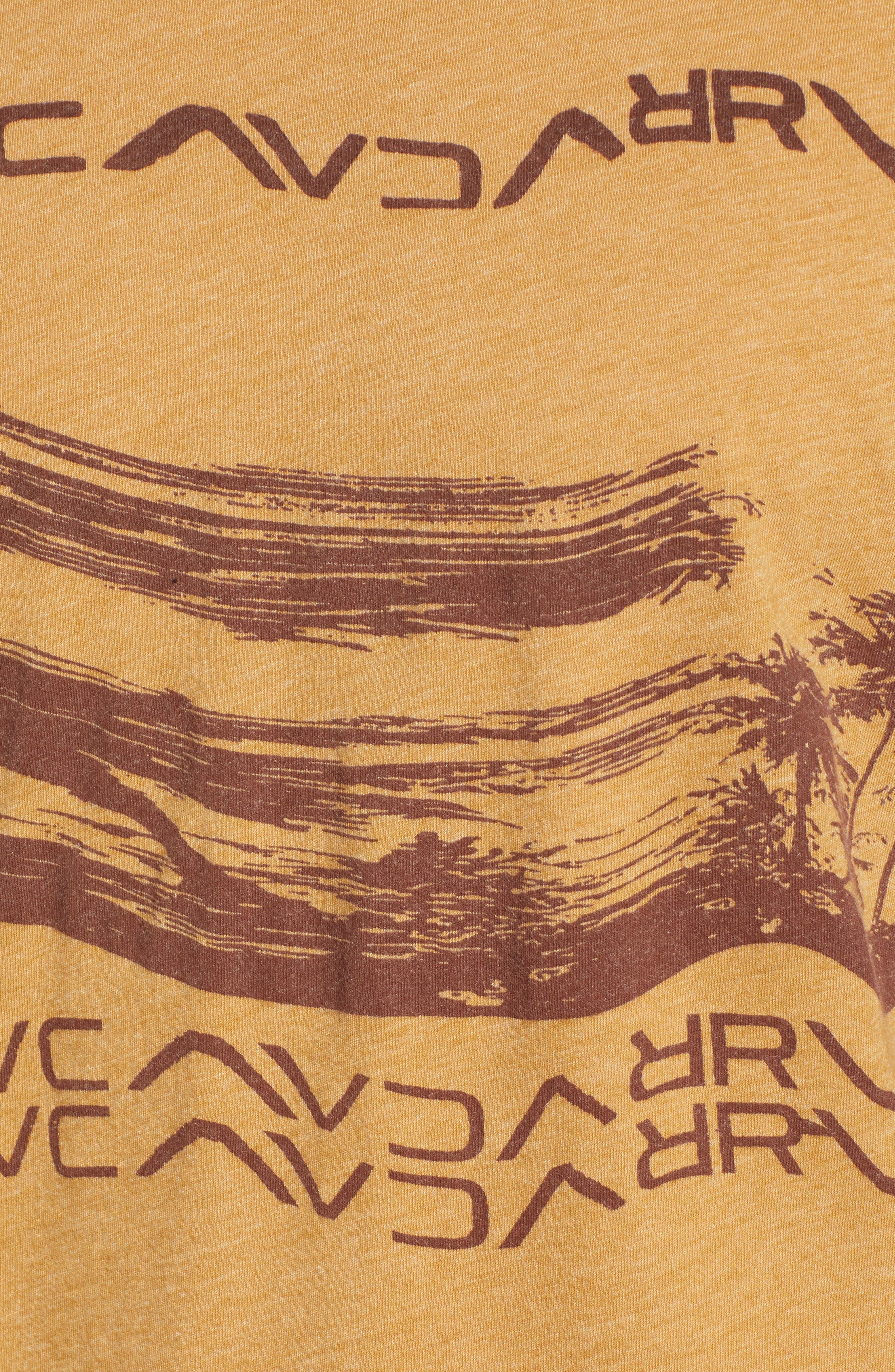 Warped Palm Graphic T-Shirt,                             Alternate thumbnail 5, color,                             APPLE CINNAMON