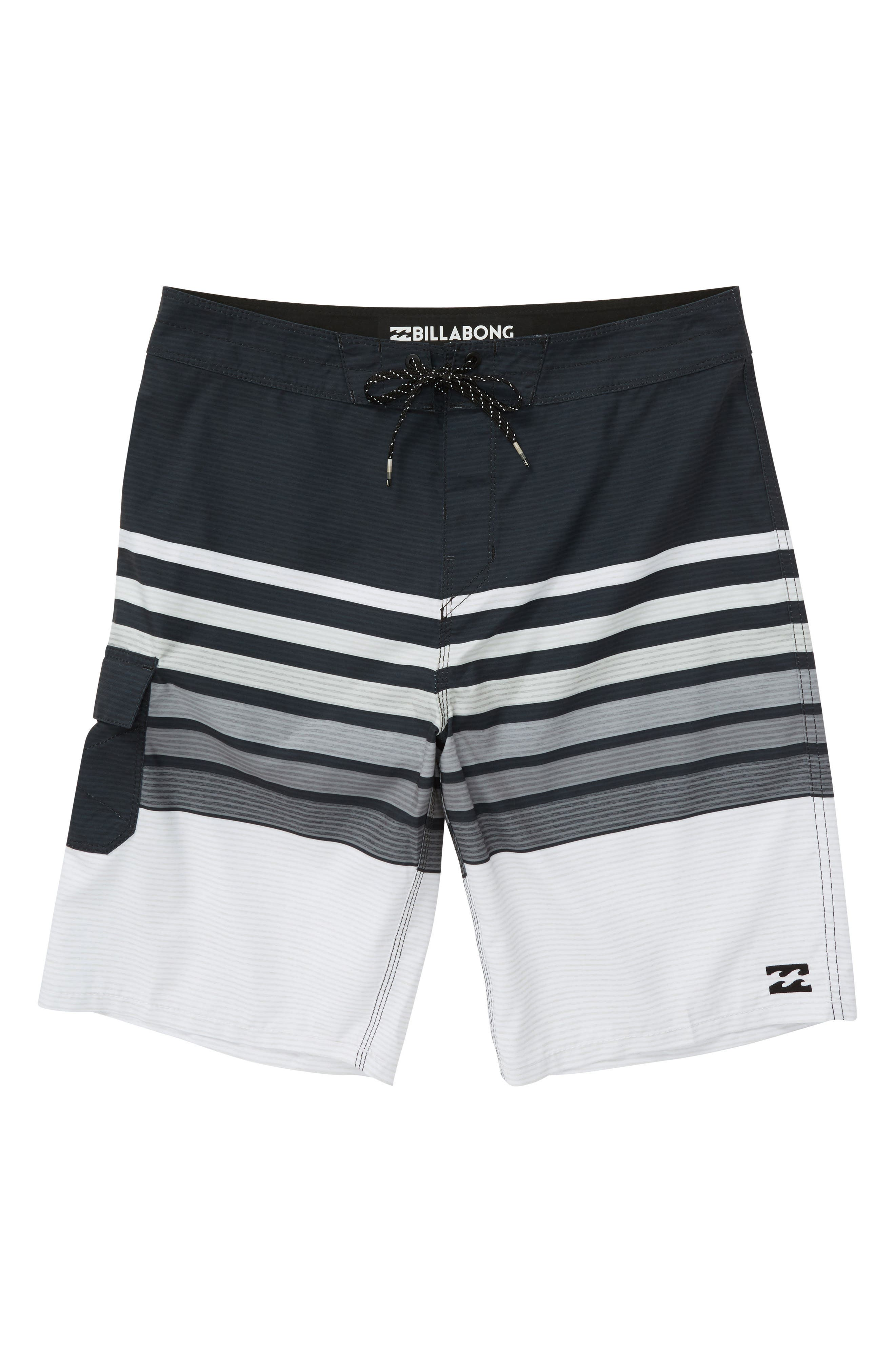 BILLABONG All Day OG Stripe Board Shorts, Main, color, 001