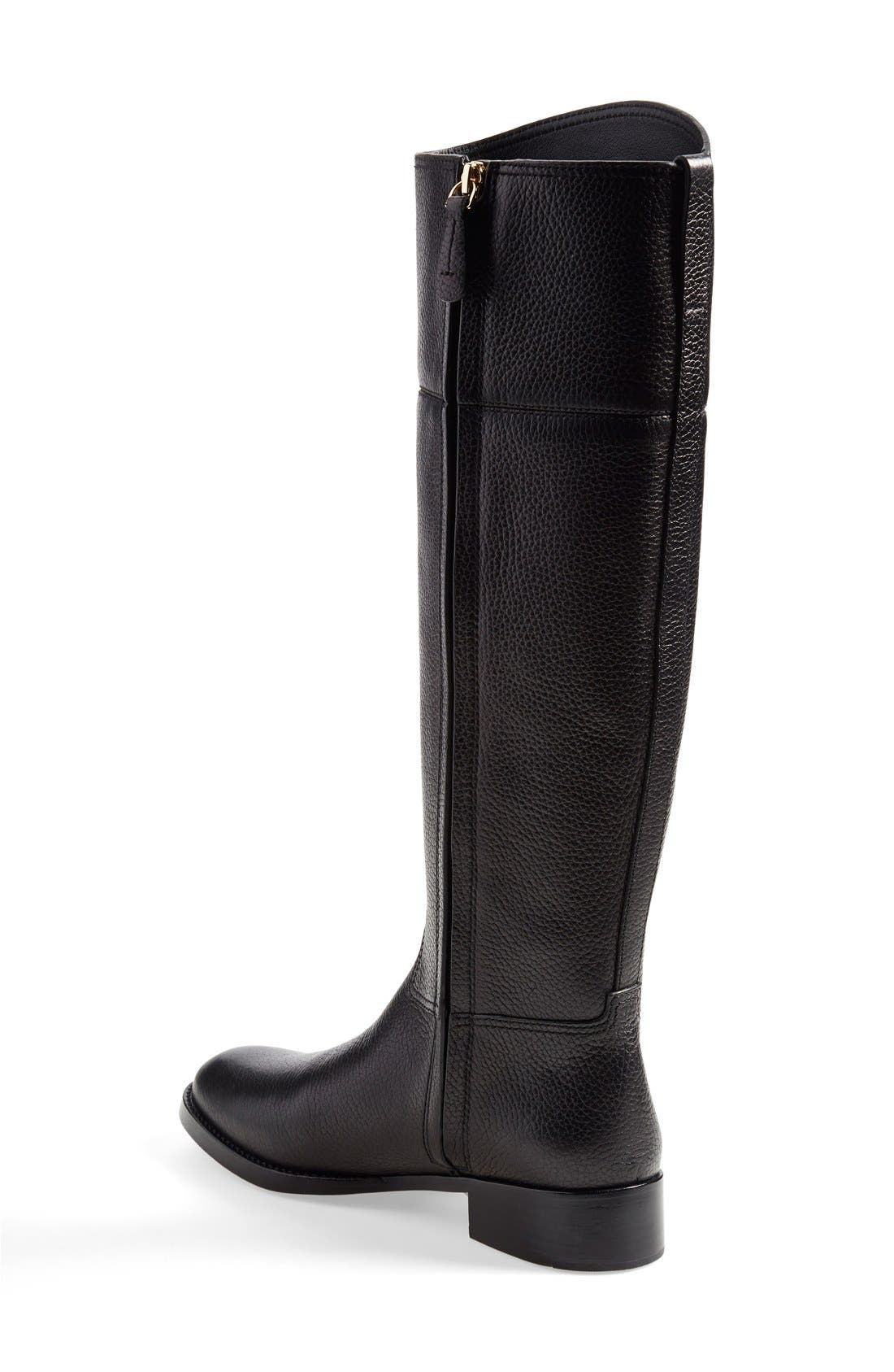 TORY BURCH,                             'Junction' Riding Boot,                             Alternate thumbnail 3, color,                             001
