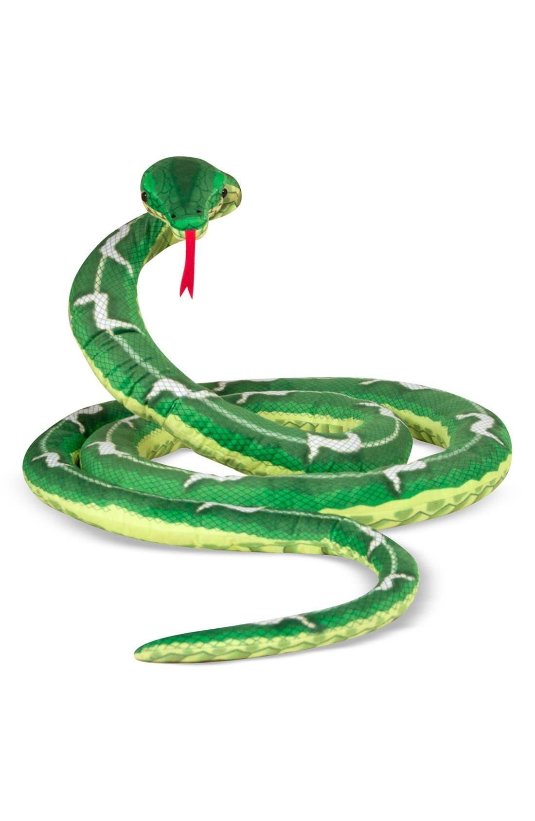 Plush Snake,                             Main thumbnail 1, color,                             GREEN