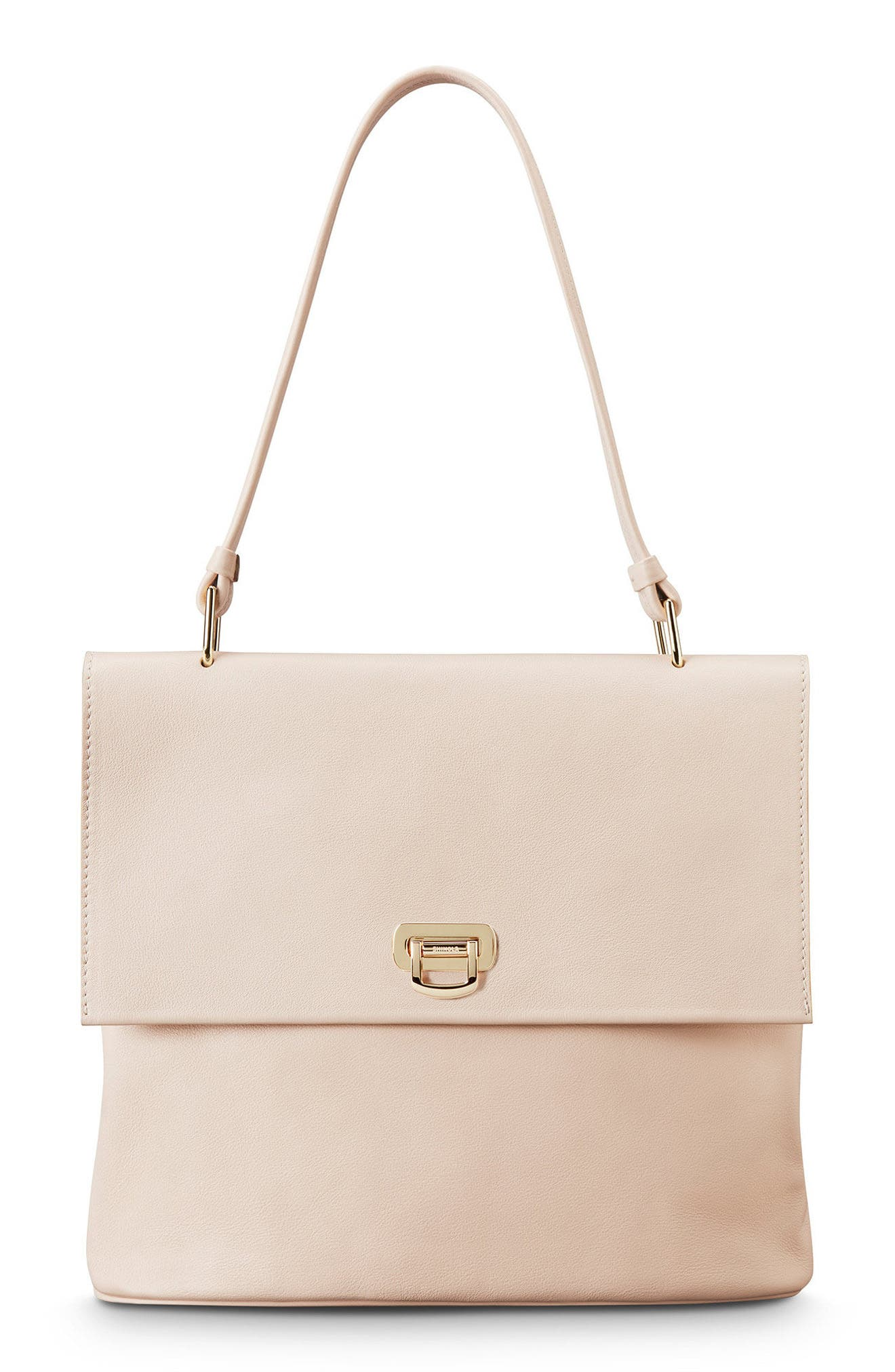 Birdy Leather Shoulder Bag,                         Main,                         color, SOFT BLUSH