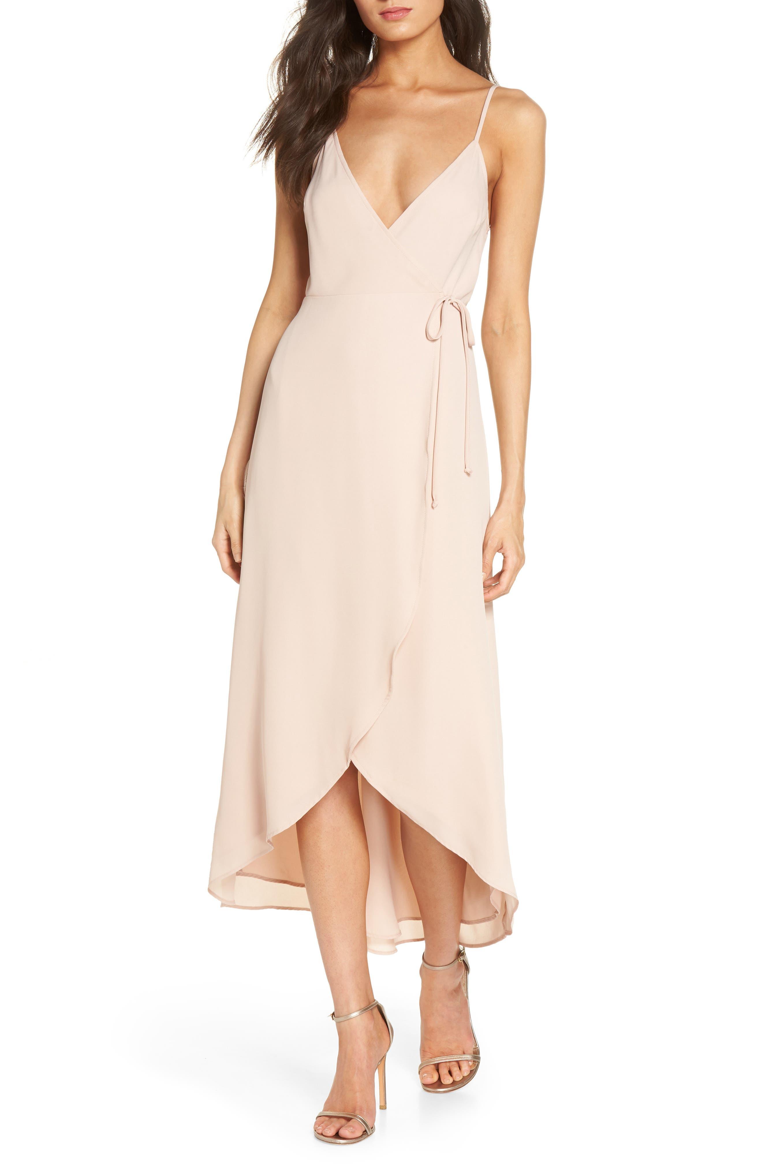 SHOW ME YOUR MUMU, Meghan Wrap Dress, Main thumbnail 1, color, DUSTY BLUSH