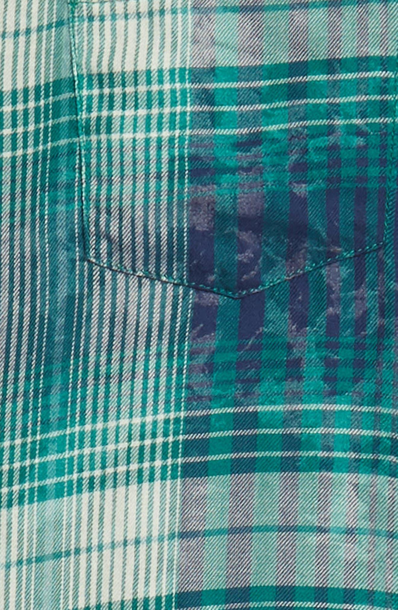 Beach Plaid Shirt,                             Alternate thumbnail 6, color,                             449