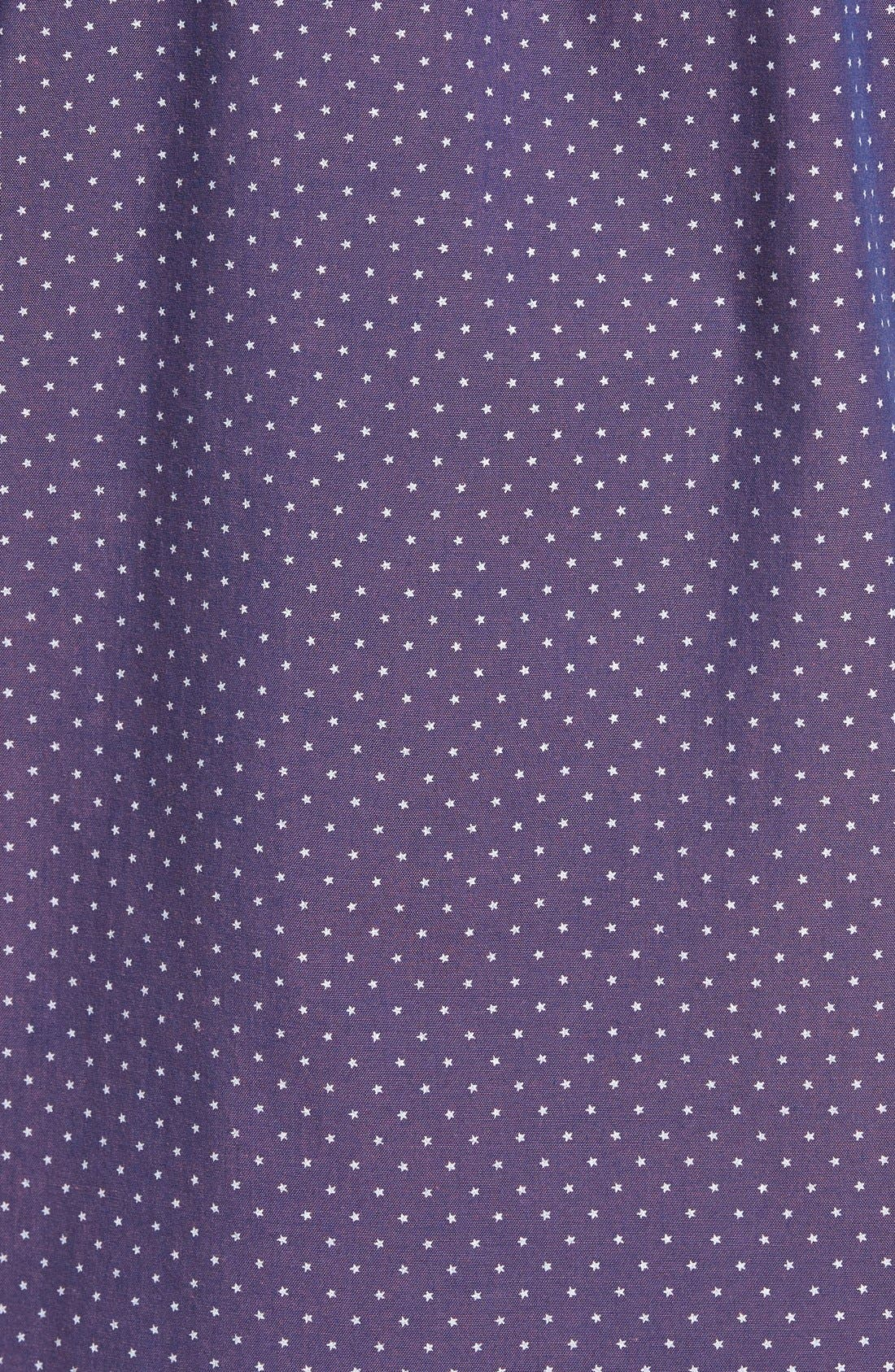 Slim Fit Star Print Sport Shirt,                             Alternate thumbnail 5, color,                             930