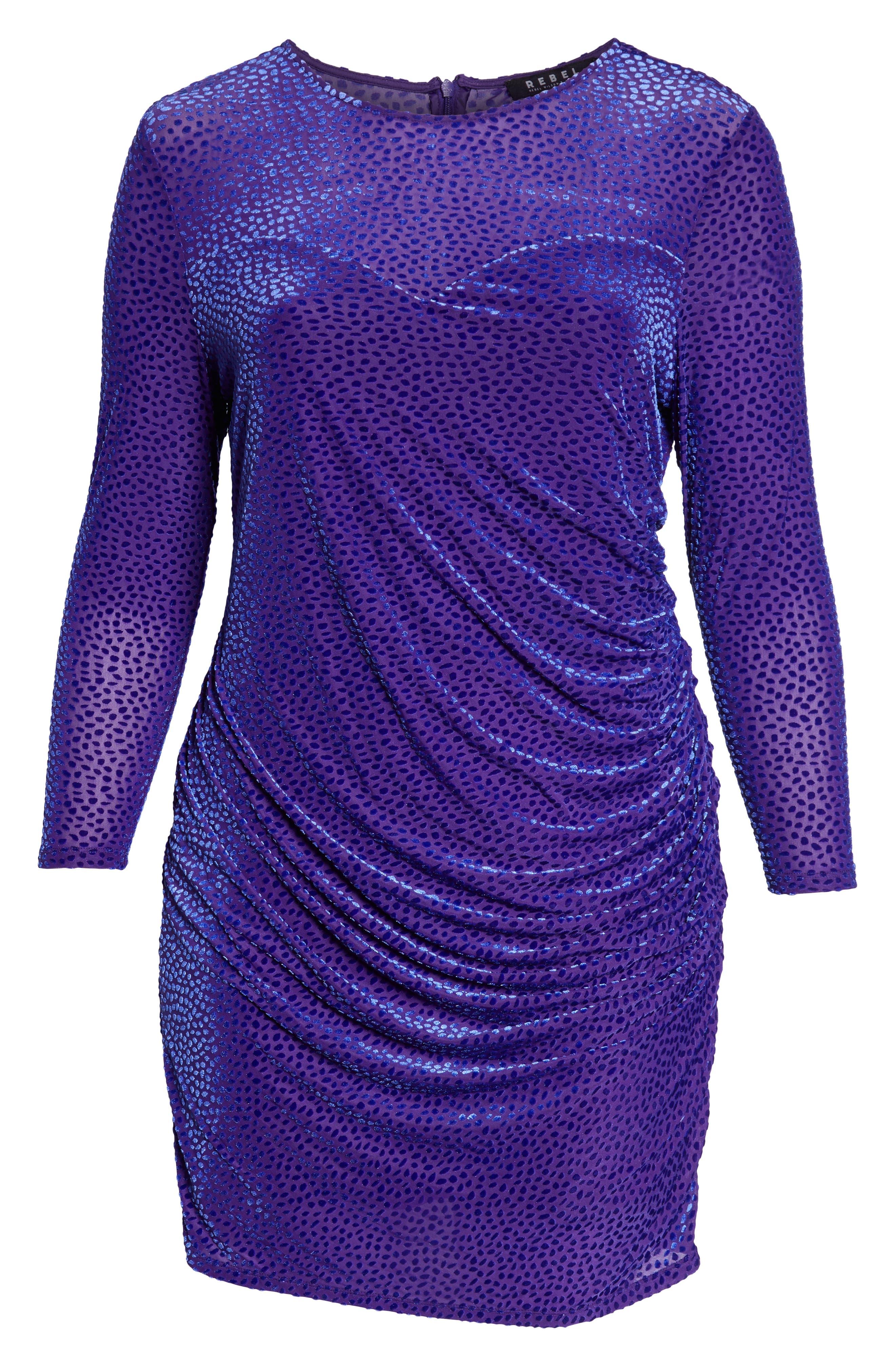 Sweetheart Burnout Dress,                             Alternate thumbnail 4, color,                             DOT DEVORE