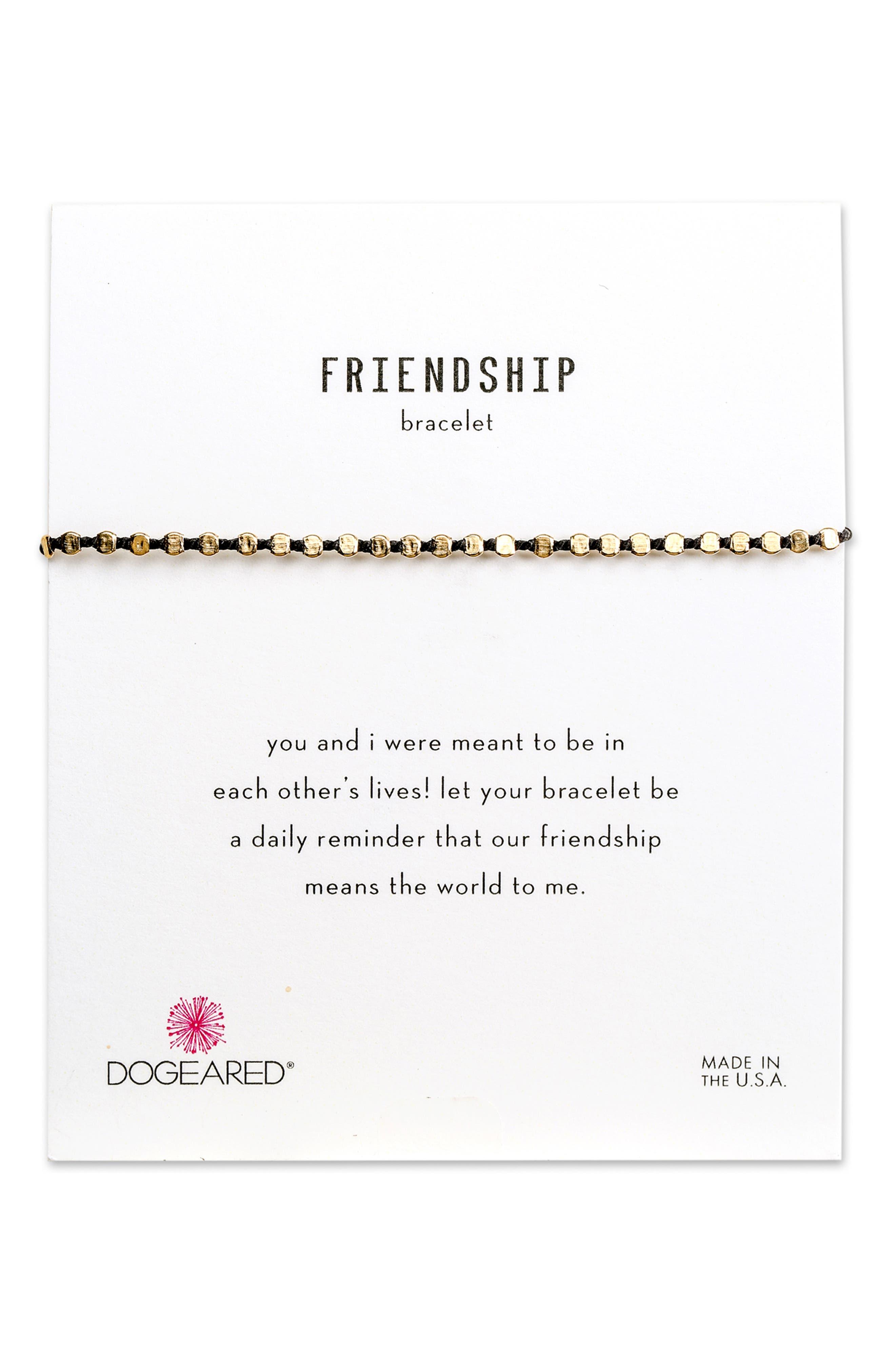 DOGEARED,                             Flat Bead Friendship Bracelet,                             Main thumbnail 1, color,                             710