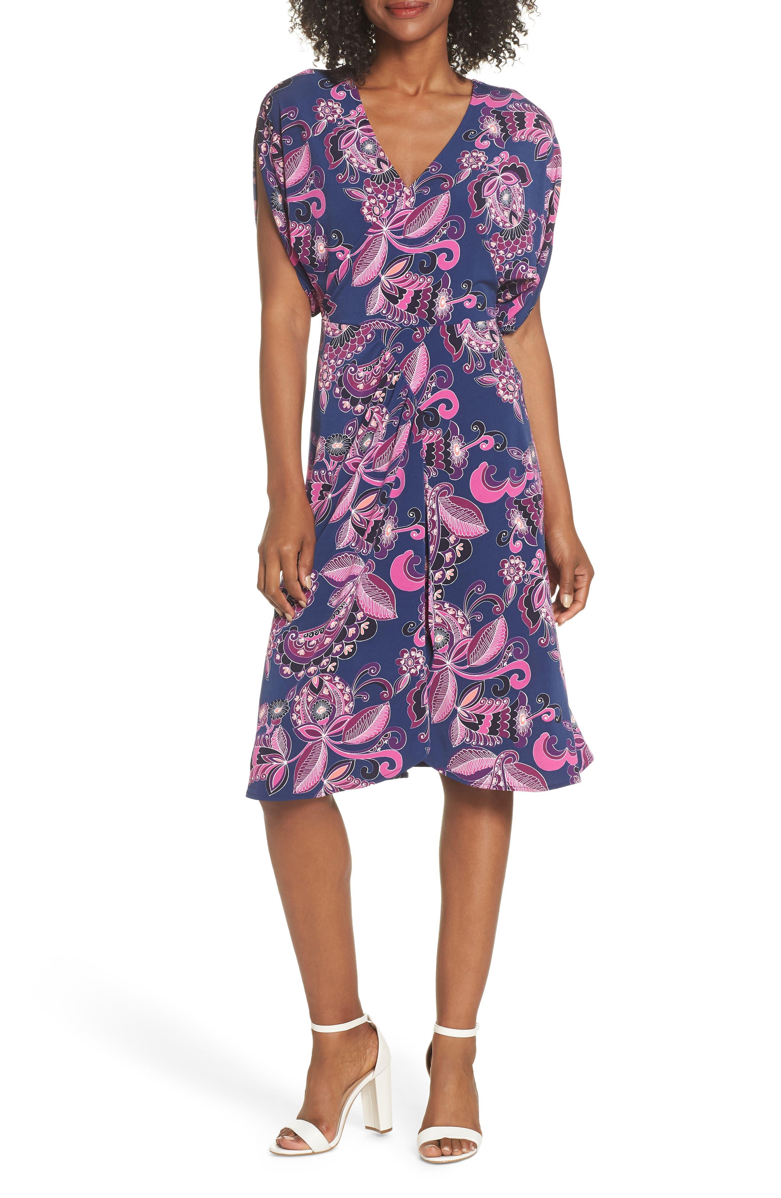 Payton Print Jersey Dress,                         Main,                         color, MULTI