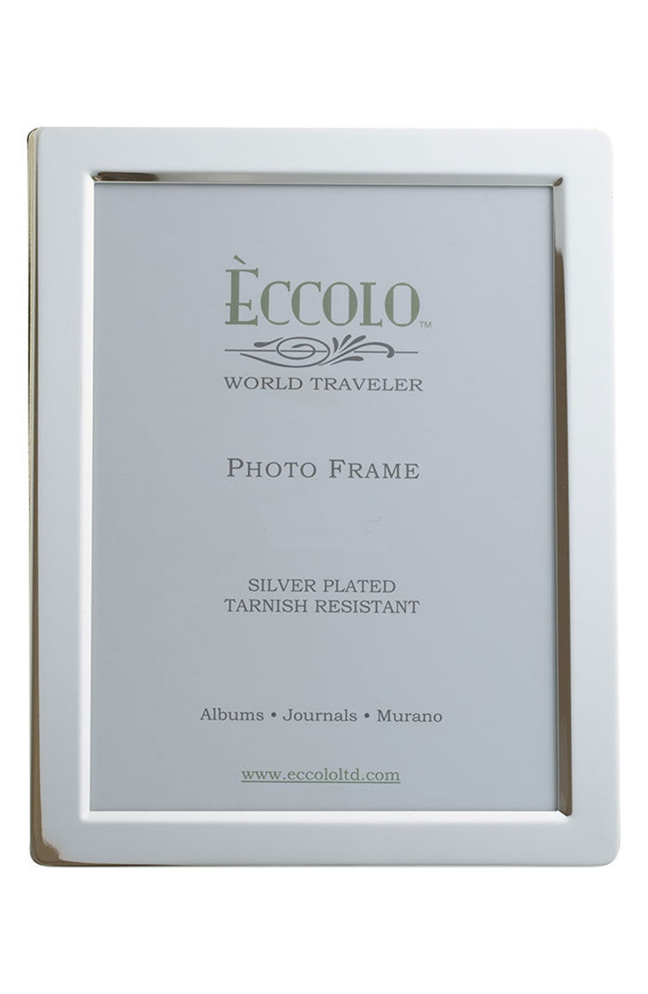 Beveled Silver Picture Frame,                             Main thumbnail 1, color,                             040