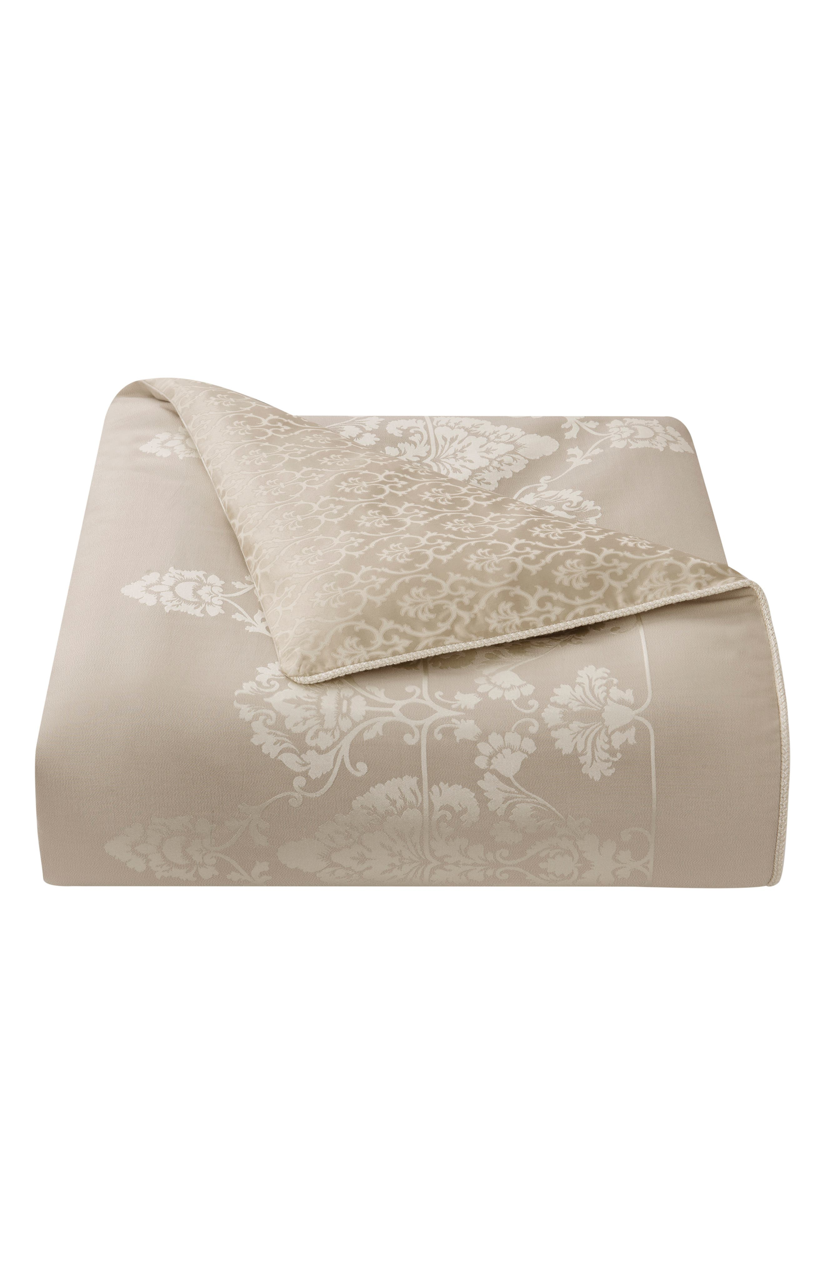 WATERFORD,                             Abrielle Reversible Comforter, Sham & Bed Skirt Set,                             Alternate thumbnail 6, color,                             CHAMPAGNE