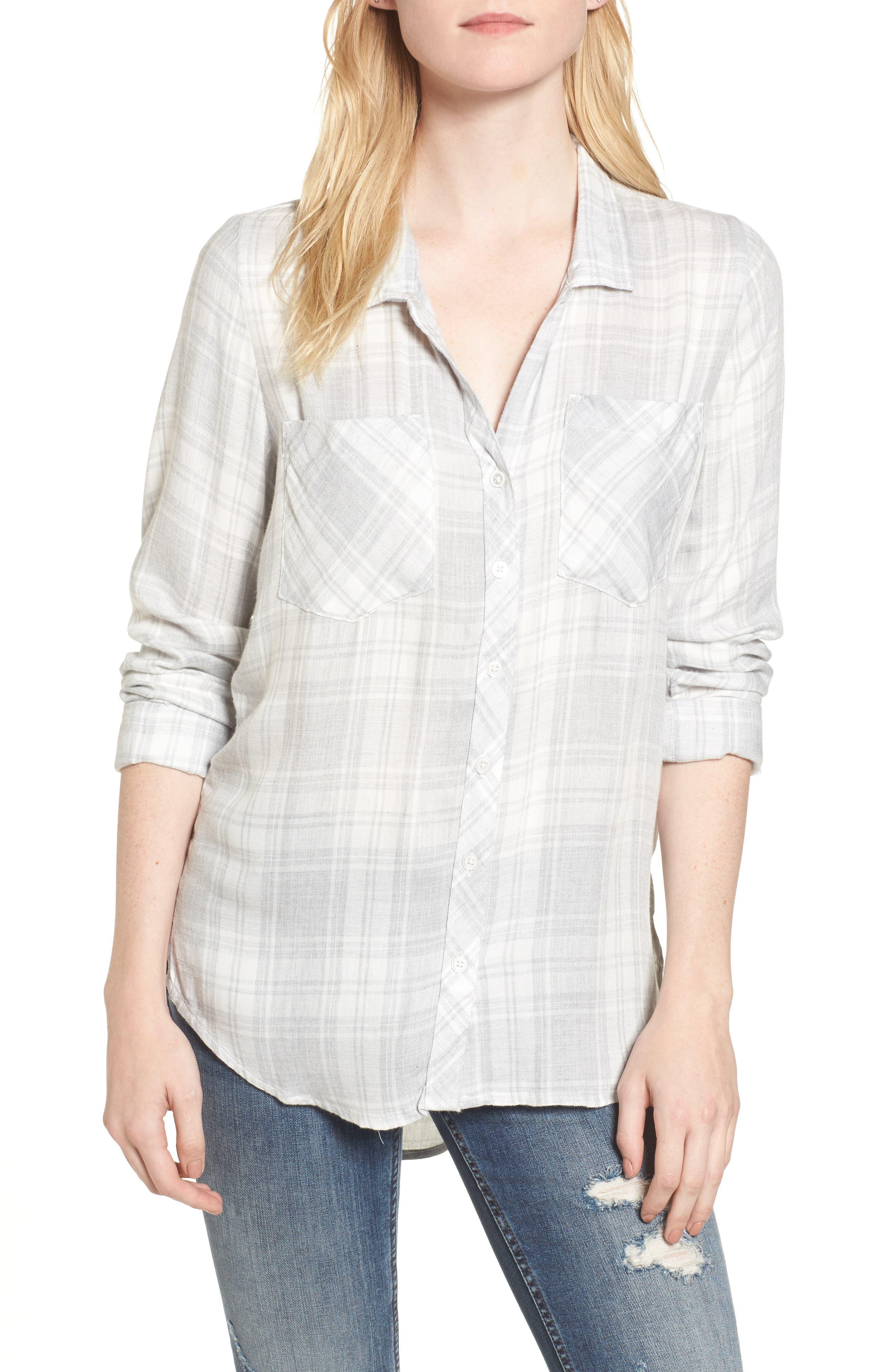 Zoey Plaid Shirt,                             Main thumbnail 1, color,                             051