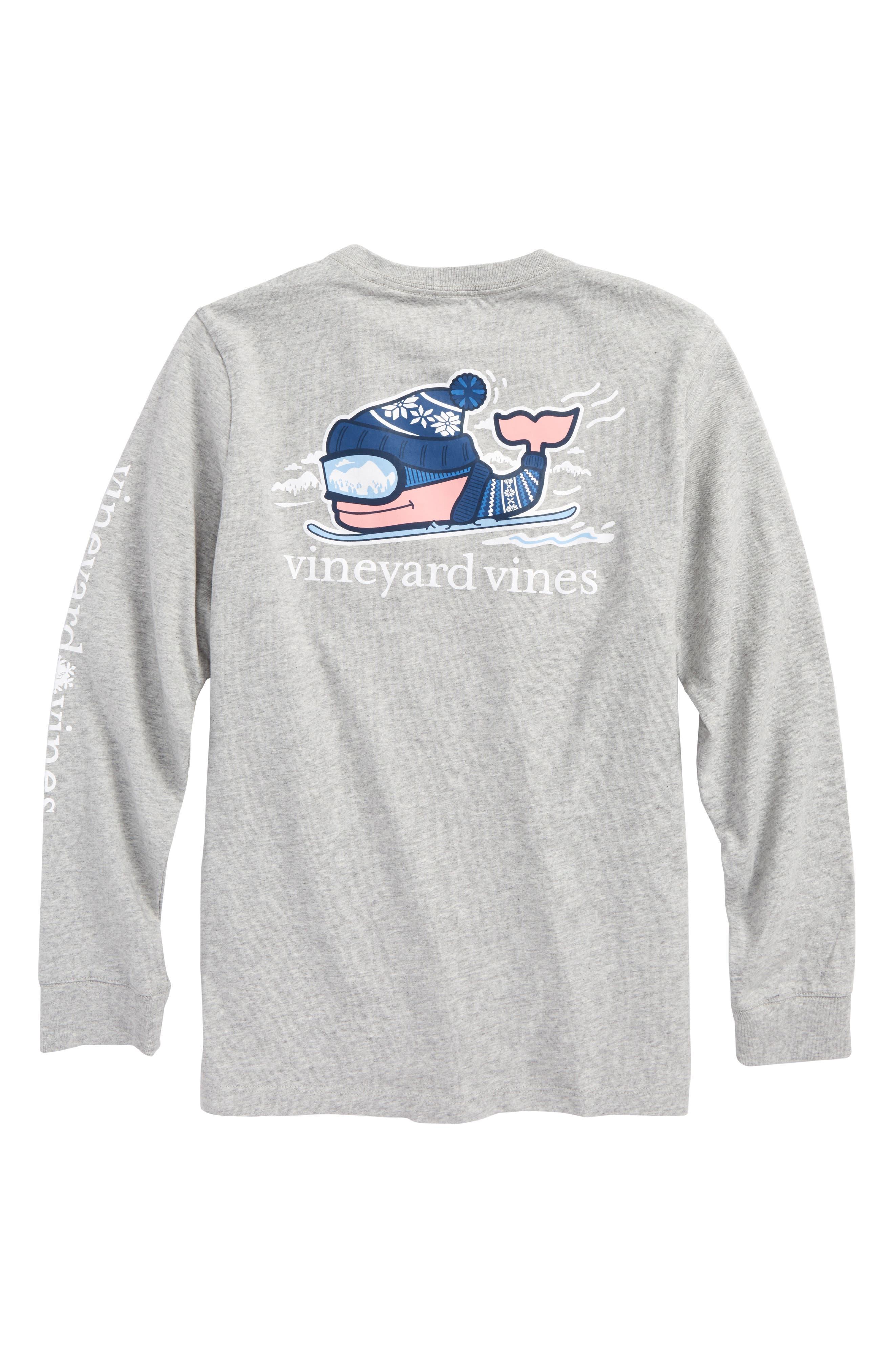 Downhill Ski Whale Pocket T-Shirt,                             Alternate thumbnail 2, color,                             039