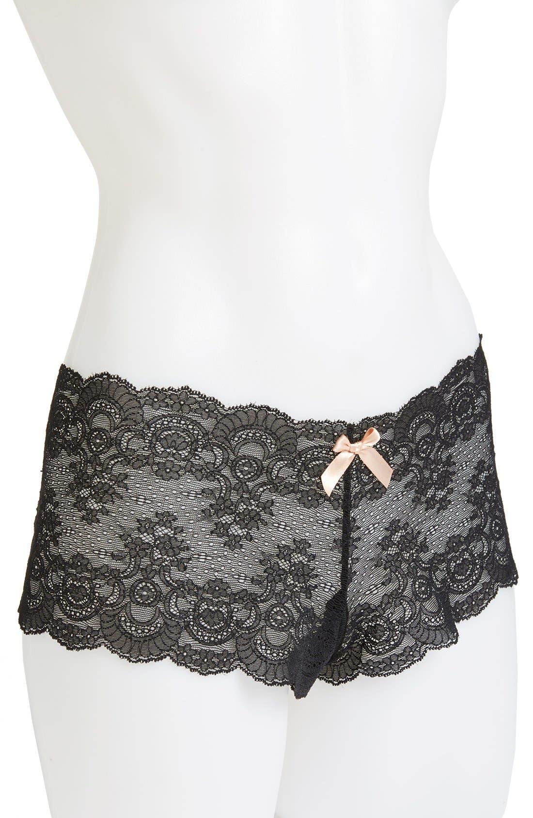HANKY PANKY,                             Open Gusset Panties,                             Alternate thumbnail 2, color,                             BLACK