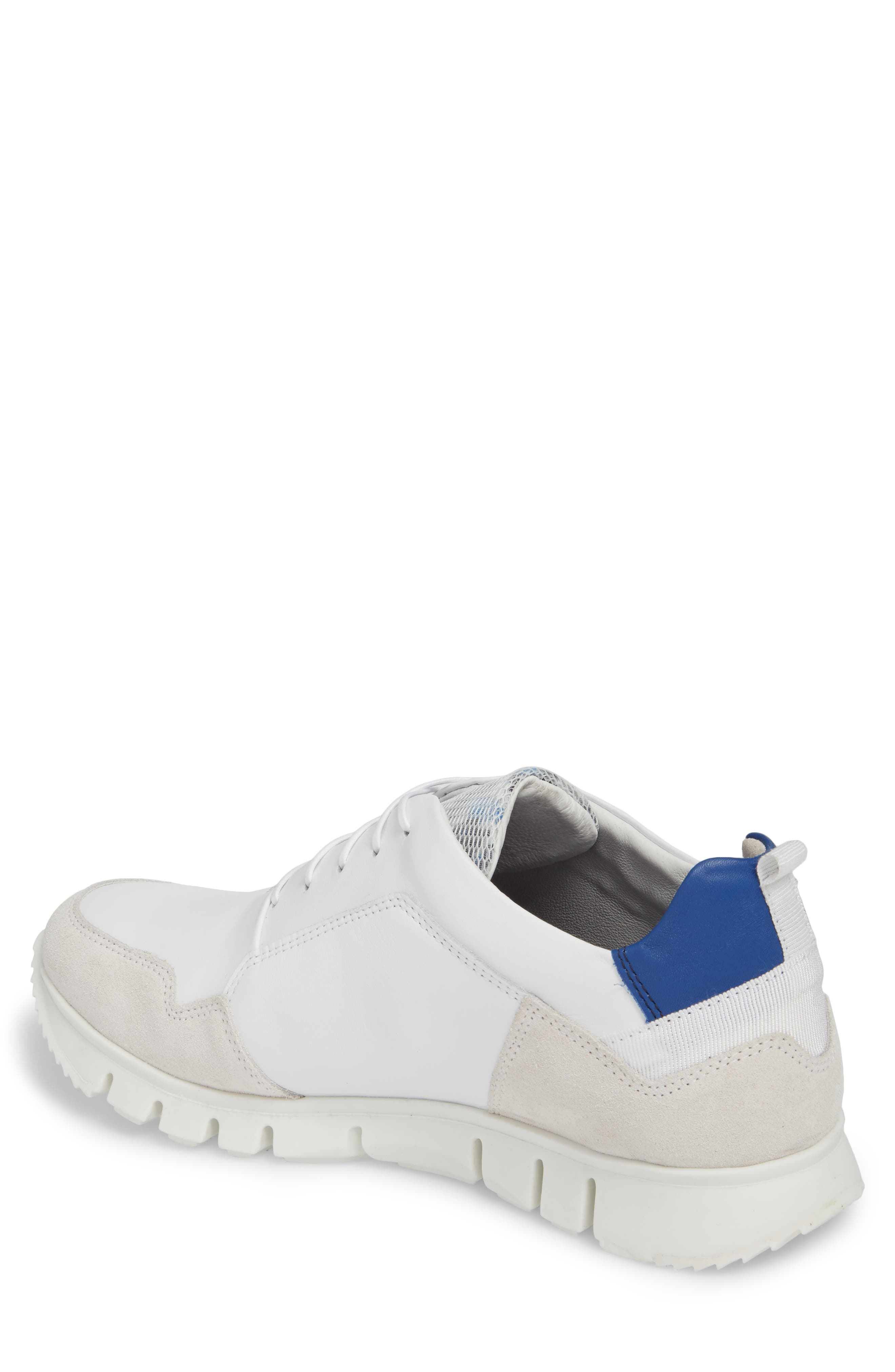 Sild Low Top Sneaker,                             Alternate thumbnail 2, color,                             WHITE SUEDE/ LEATHER