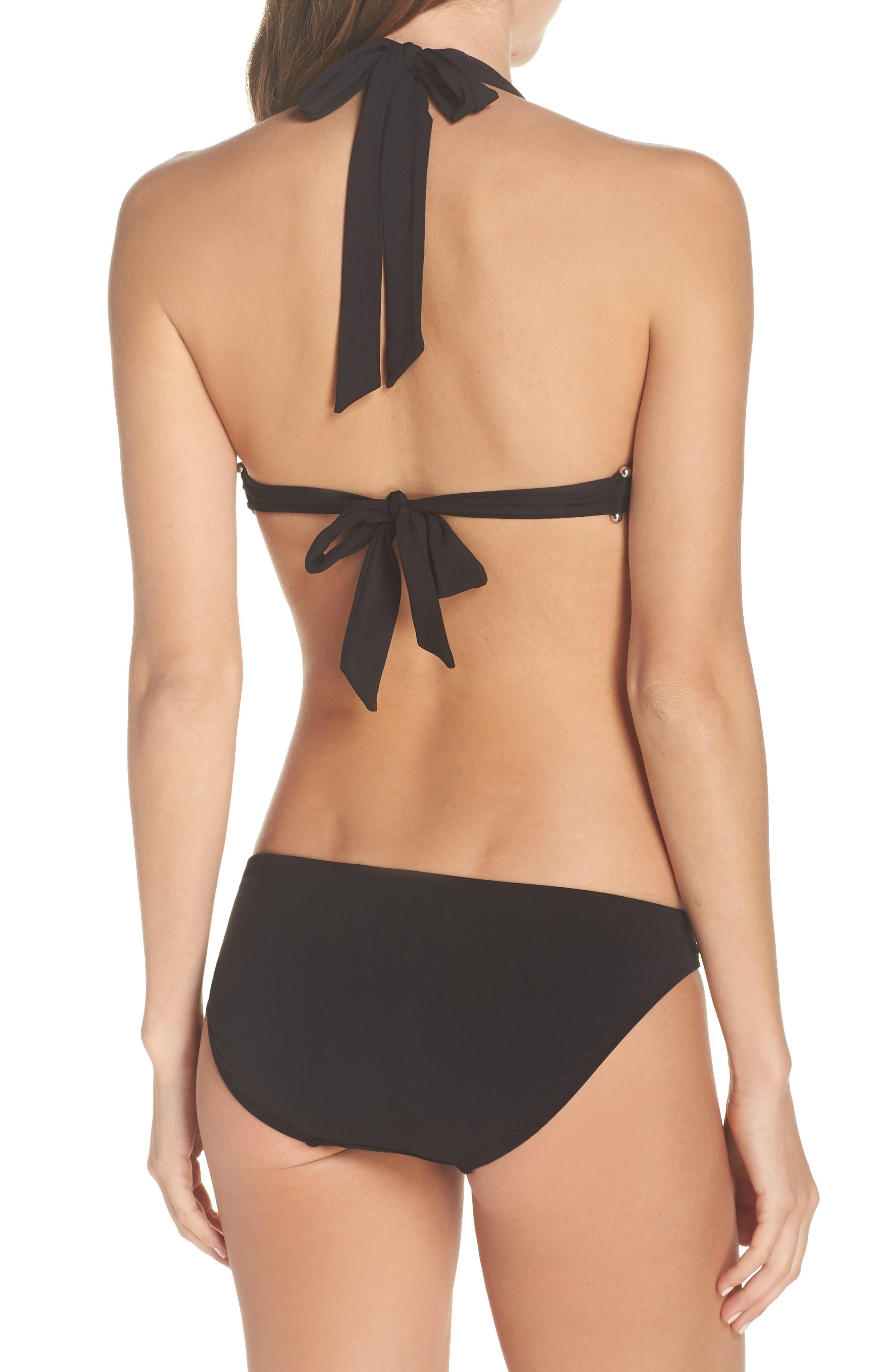 ROBIN PICCONE,                             Luca Halter Bikini Top,                             Alternate thumbnail 9, color,                             BLACK