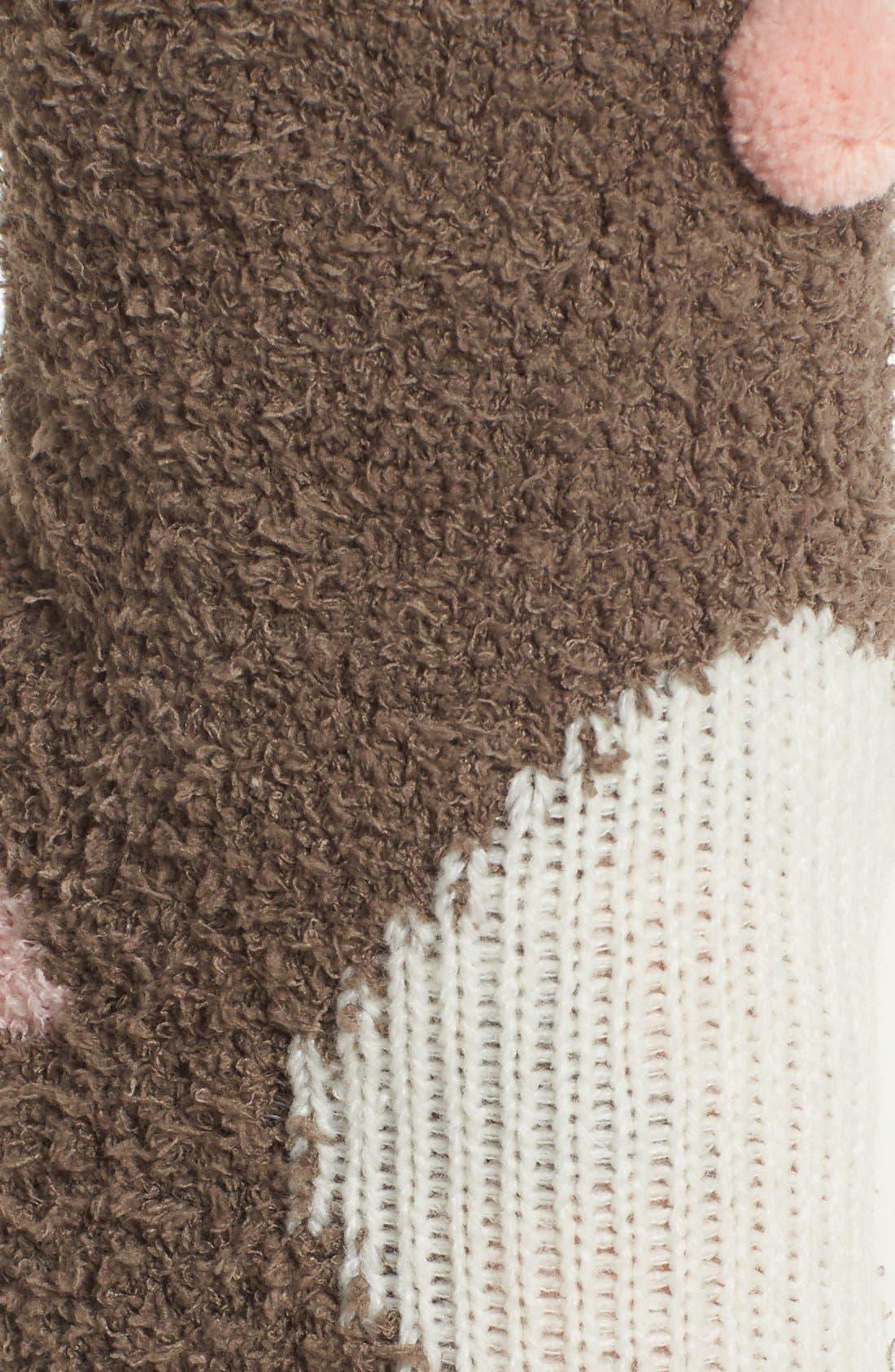 Deer Plush Socks,                             Alternate thumbnail 3, color,                             200
