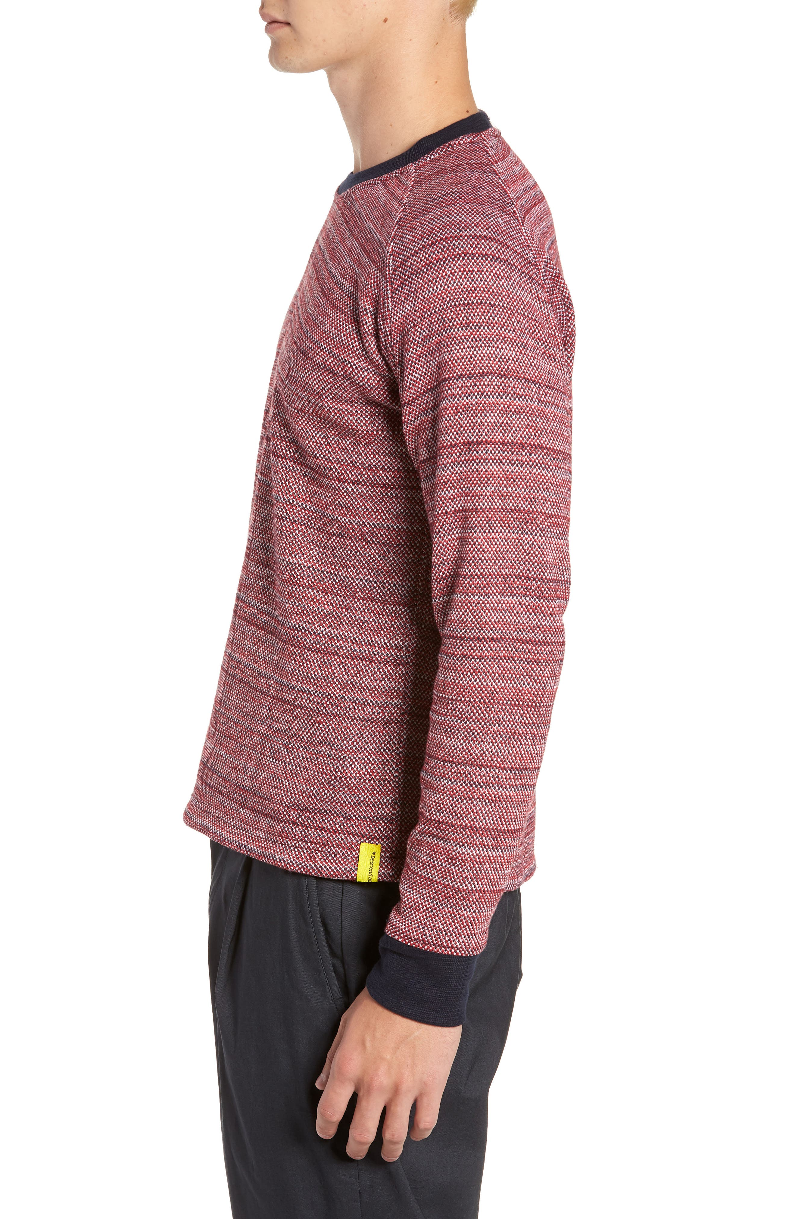 Inside Out Sweater,                             Alternate thumbnail 3, color,                             RED