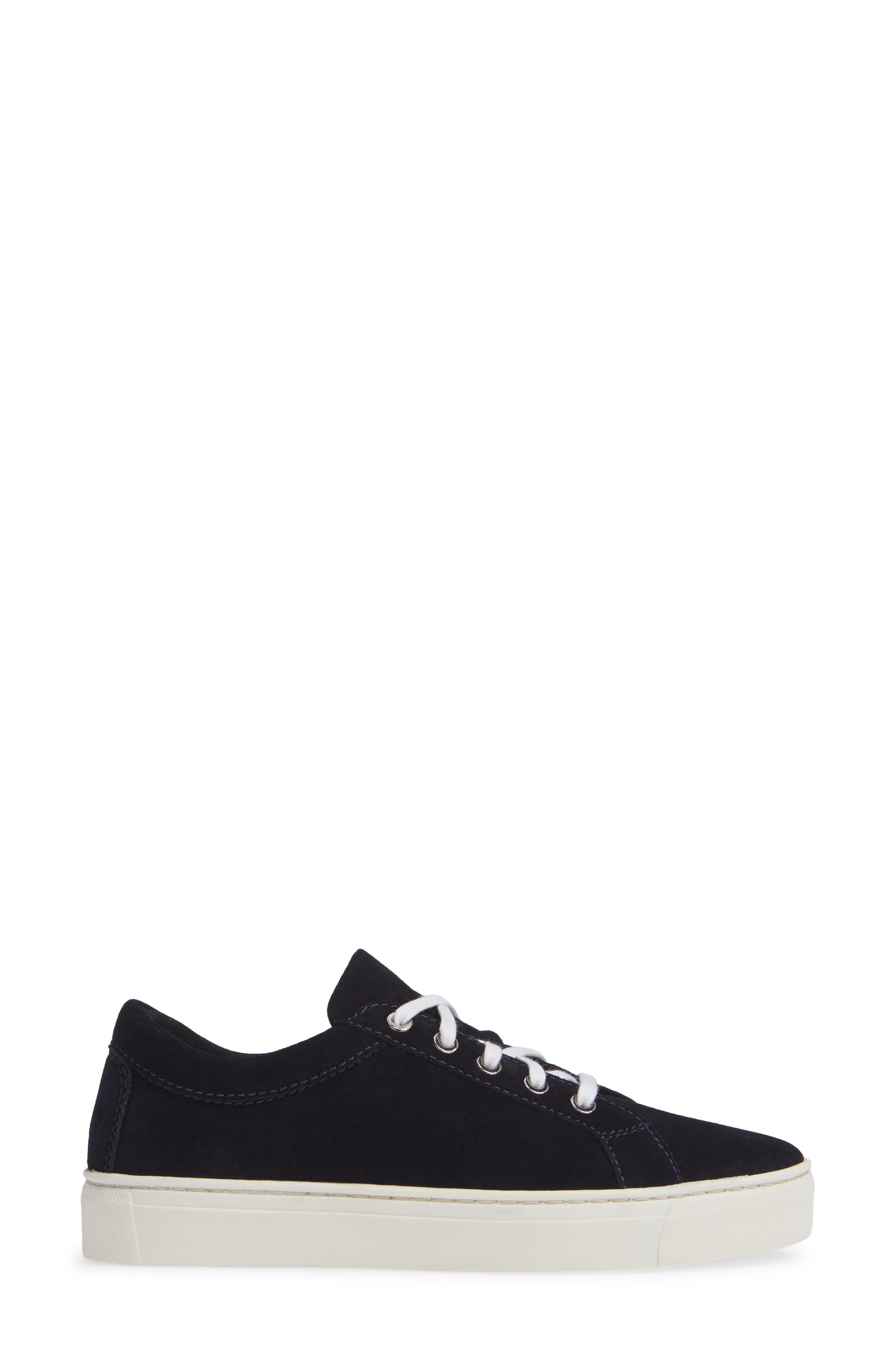 Sneak Away Sneaker,                             Alternate thumbnail 3, color,                             BLUE SUEDE