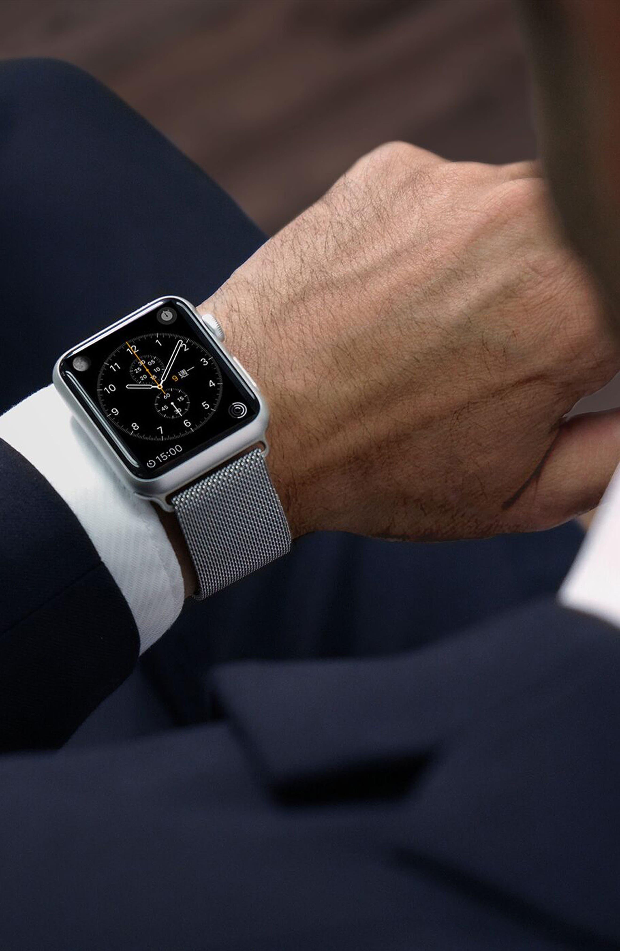 Mesh Apple Watch Strap, 38mm,                             Alternate thumbnail 8, color,