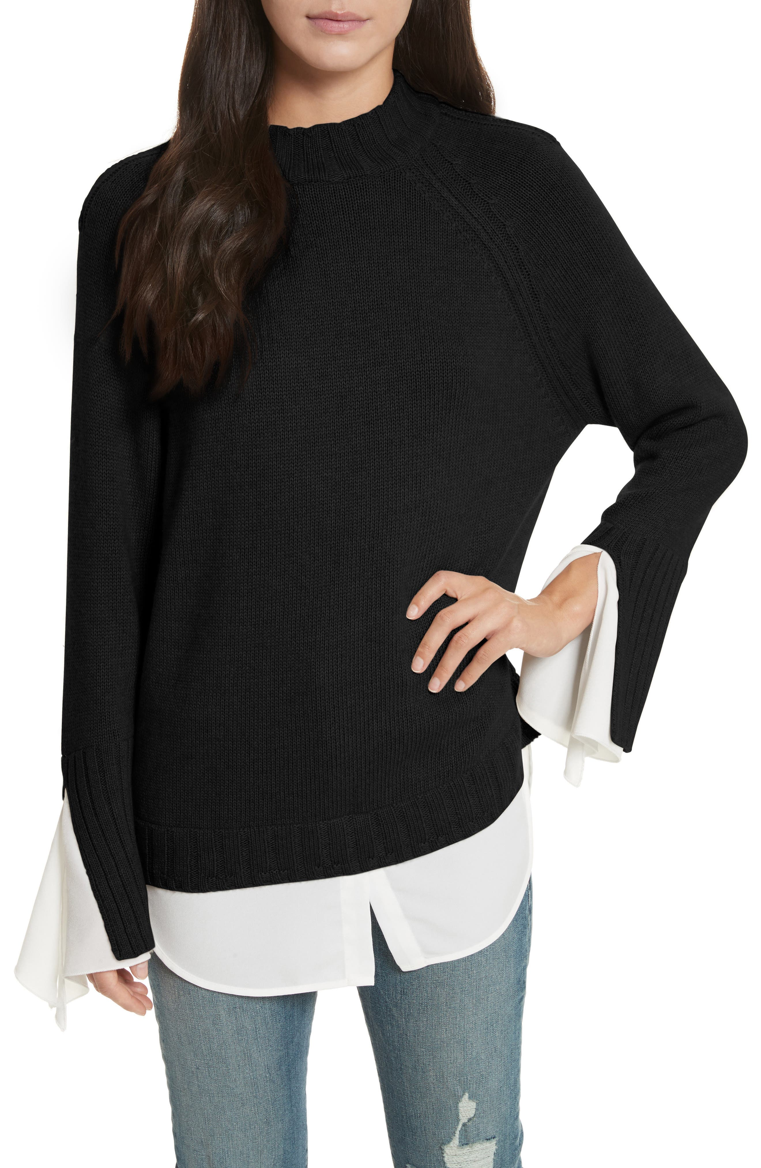 Remi Layered Pullover,                         Main,                         color, 002