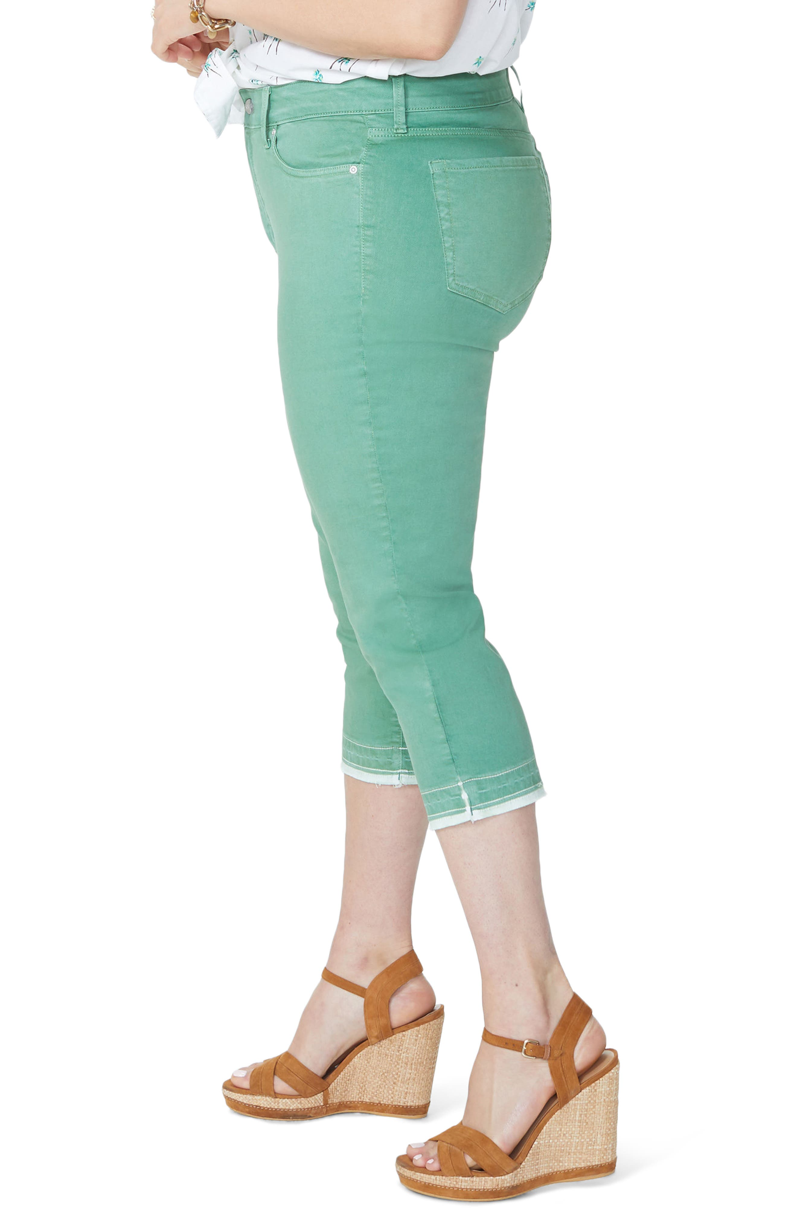 NYDJ,                             Release Hem Skinny Jeans,                             Alternate thumbnail 4, color,                             CACTUS