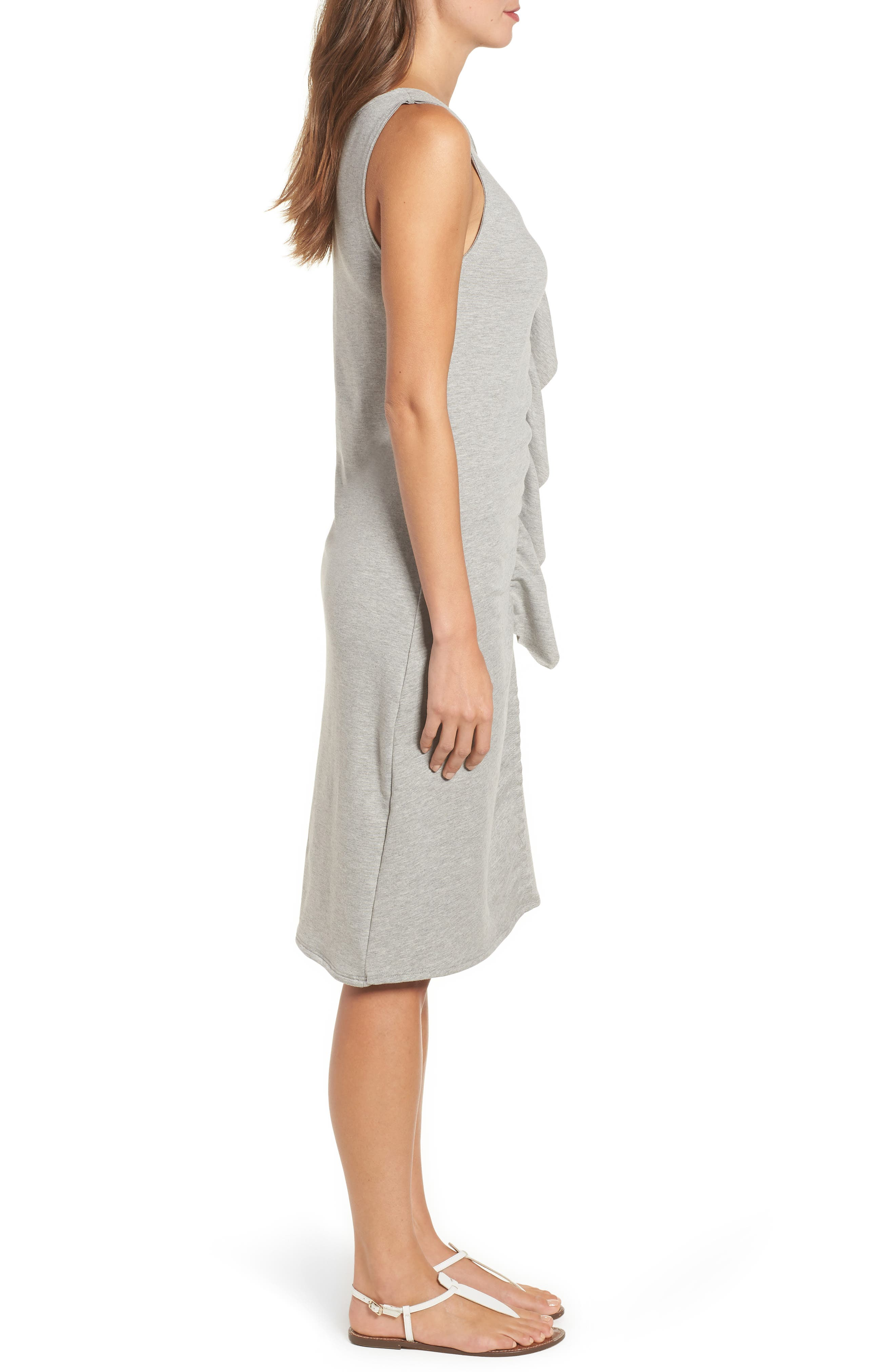 French Terry Ruffle Front Dress,                             Alternate thumbnail 8, color,