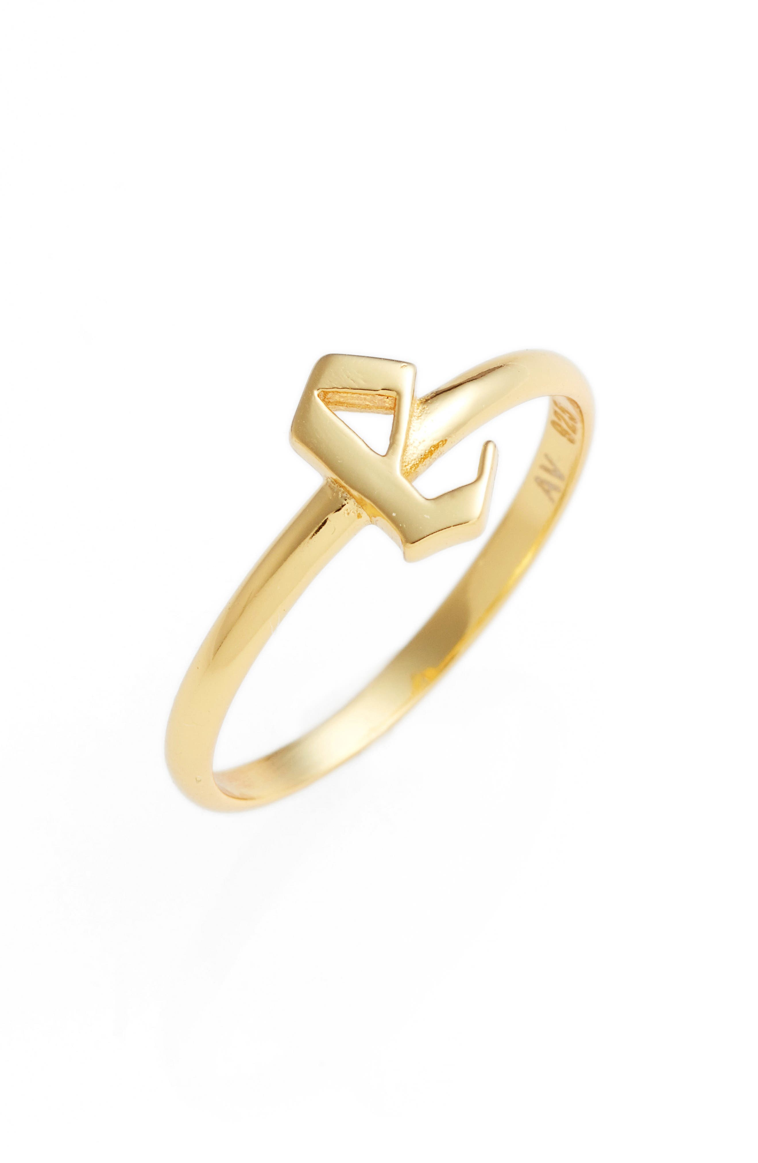 Gothic Initial Ring,                             Main thumbnail 19, color,