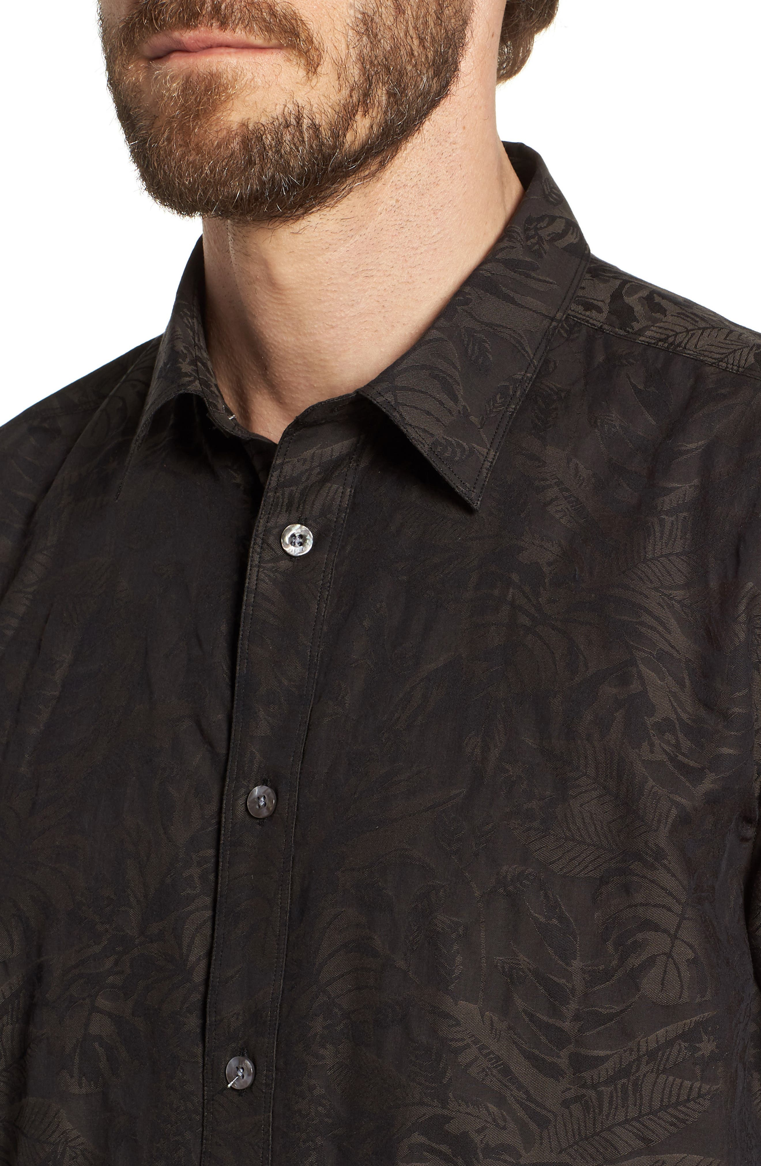 Princeville Regular Fit Print Short Sleeve Sport Shirt,                             Alternate thumbnail 4, color,                             011