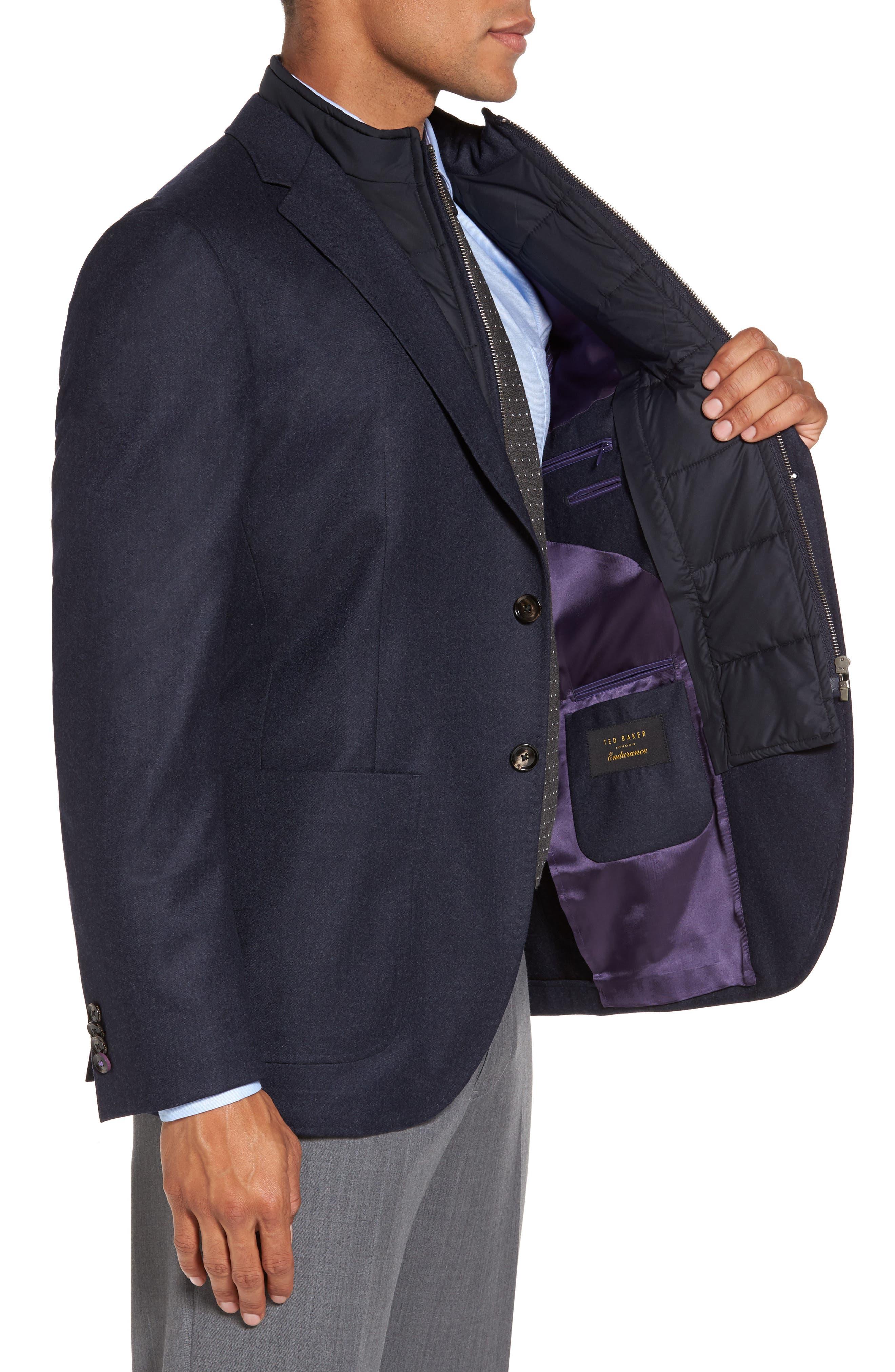 Tucker Trim Fit Plaid Wool Sport Coat,                             Alternate thumbnail 4, color,                             400