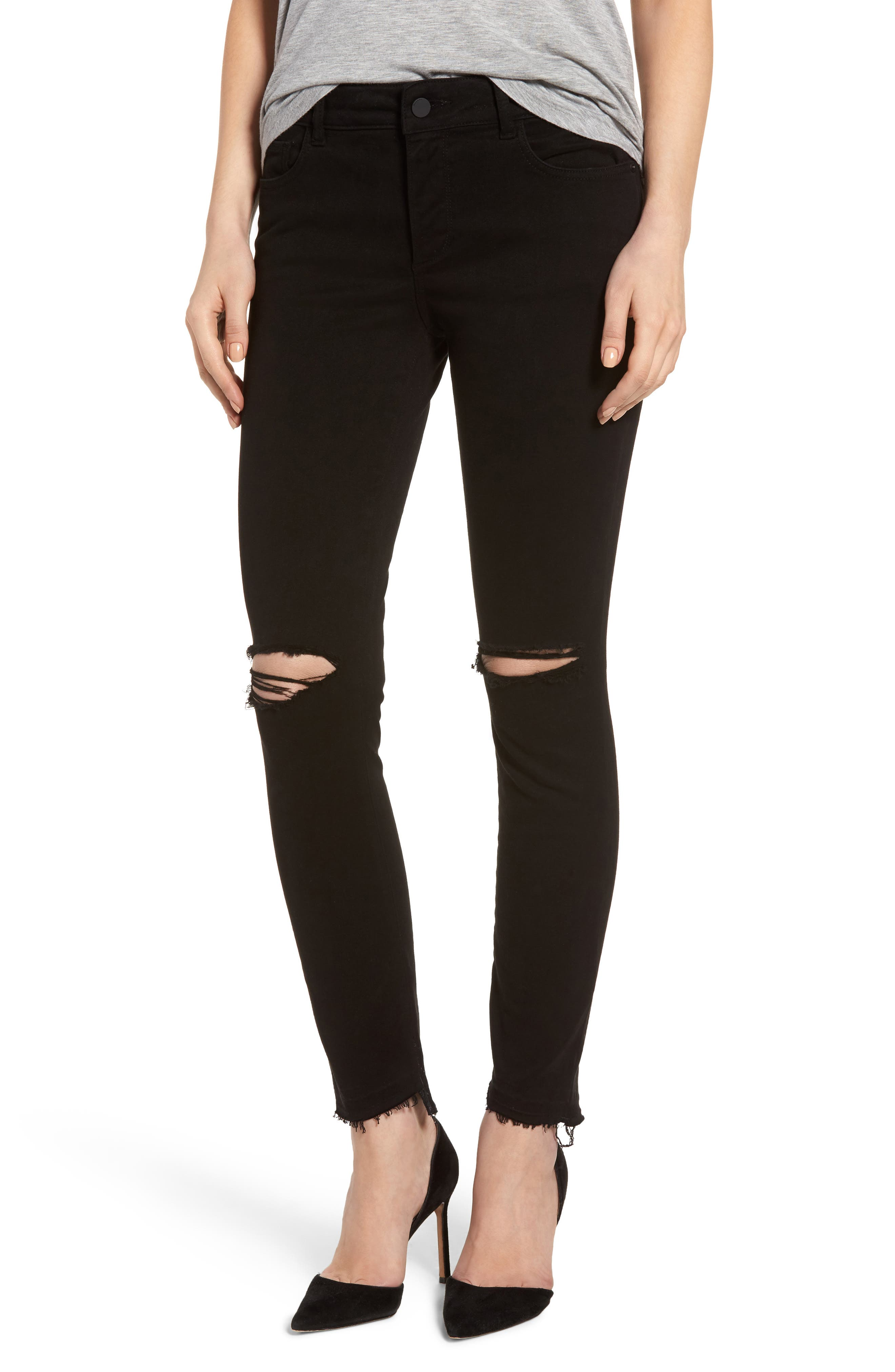 Margaux Instasculpt Ankle Skinny Jeans,                             Main thumbnail 1, color,                             001