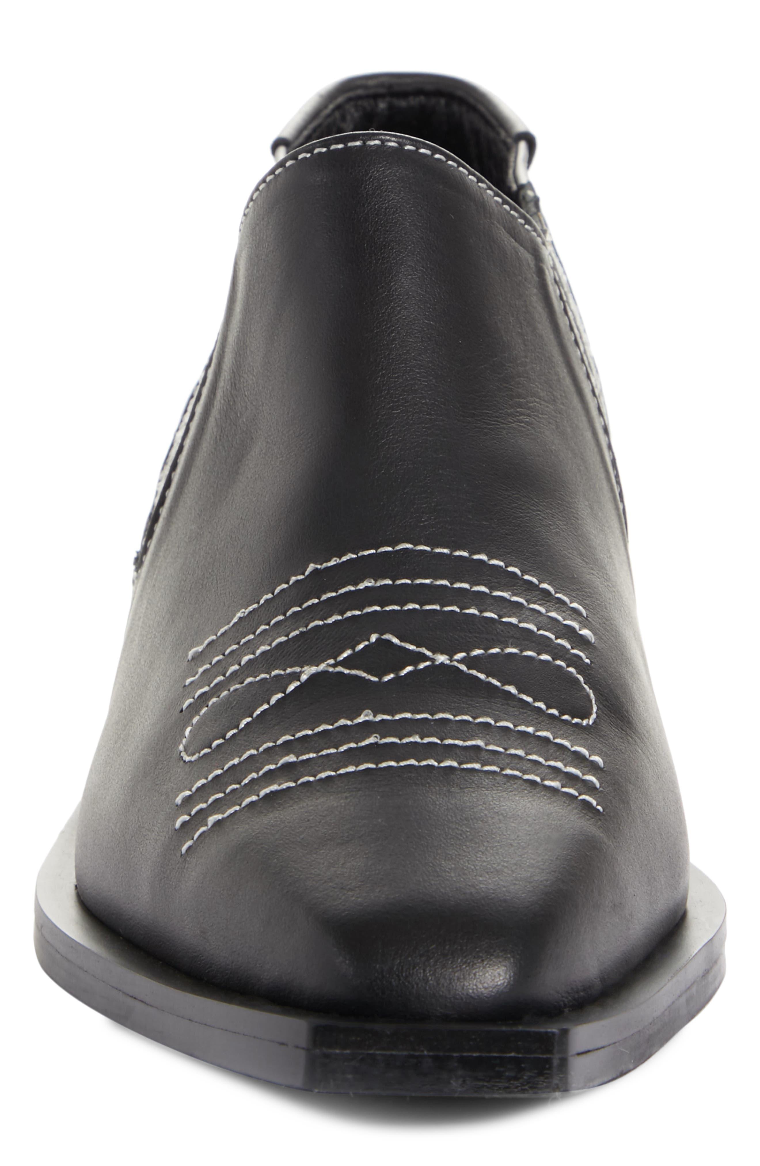 Western Loafer,                             Alternate thumbnail 4, color,                             BLACK