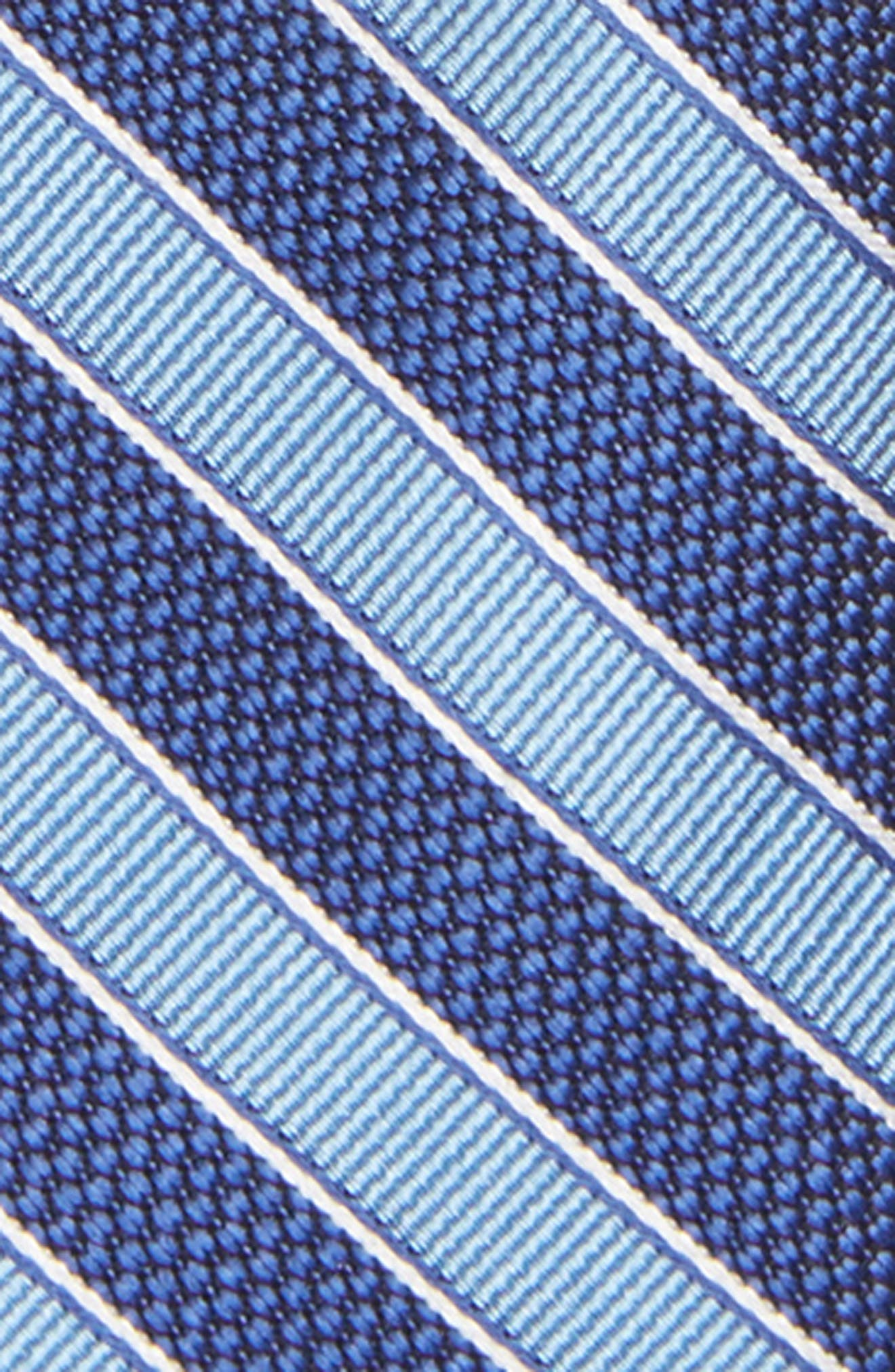 Stripe Silk Zip Tie,                             Alternate thumbnail 2, color,                             455