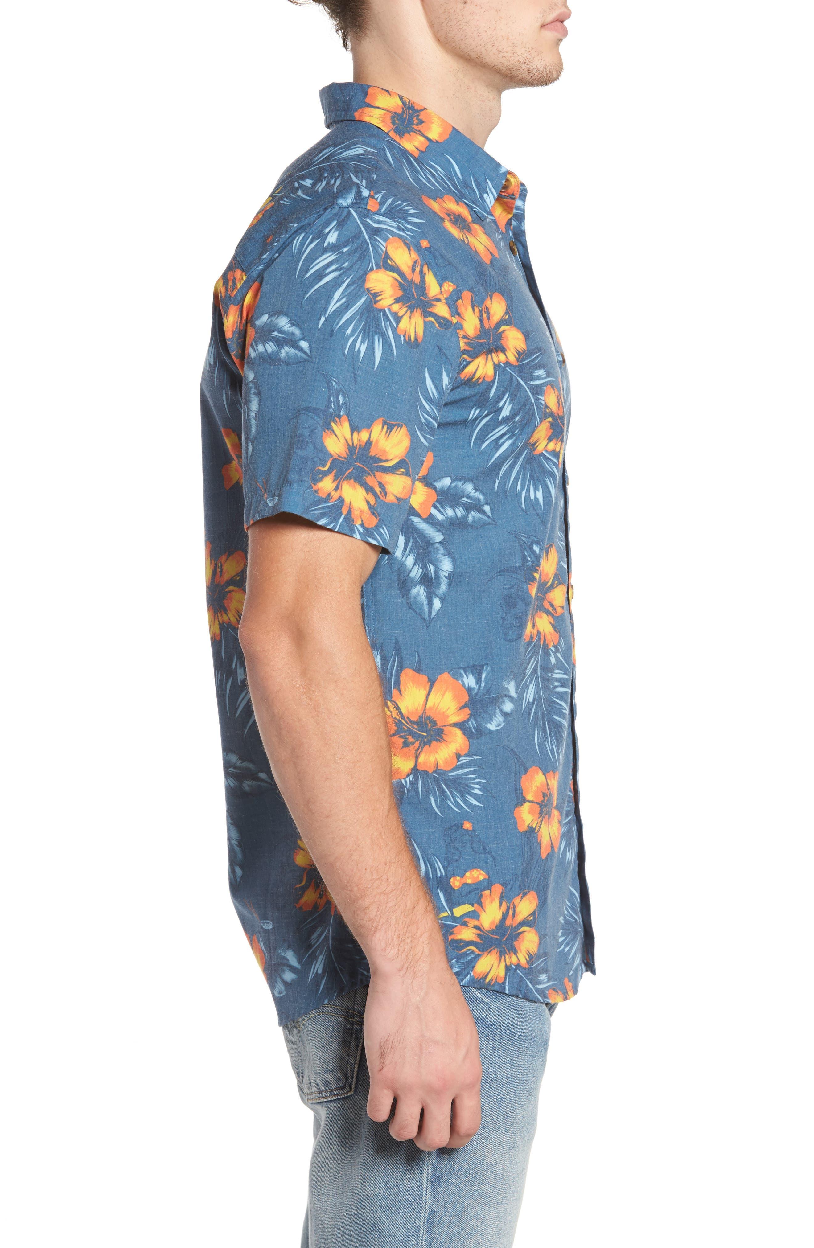 Ala Moana Floral Sport Shirt,                             Alternate thumbnail 3, color,                             439