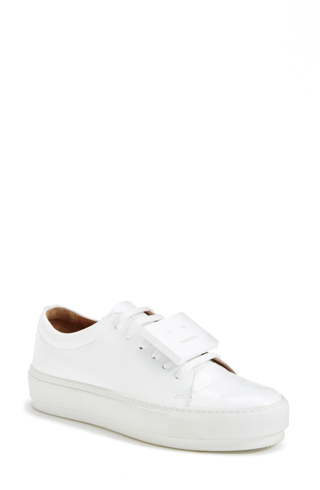 Adriana Leather Sneaker,                         Main,                         color, 100