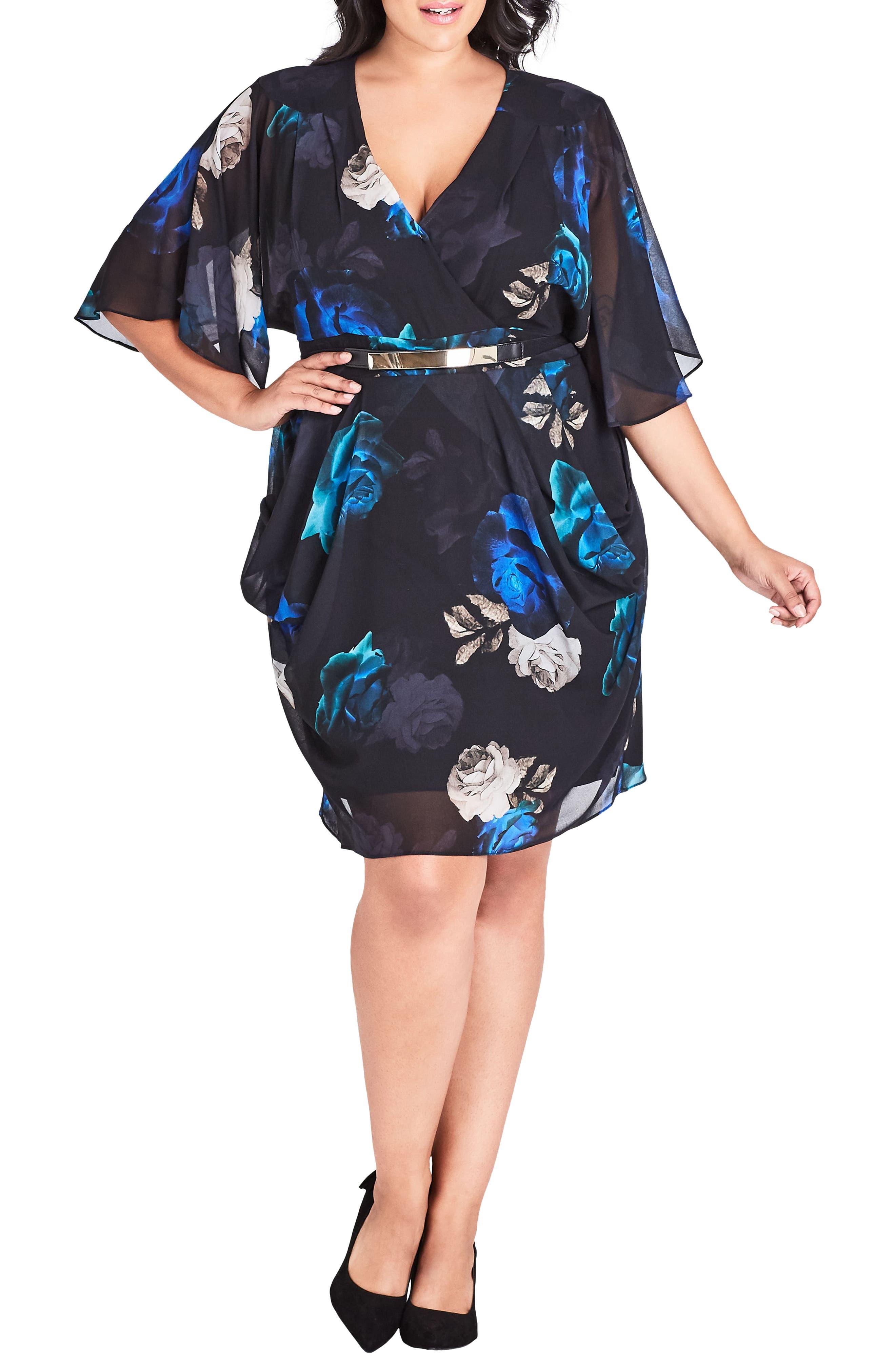 Plus Size City Chic Electric Rose Dress