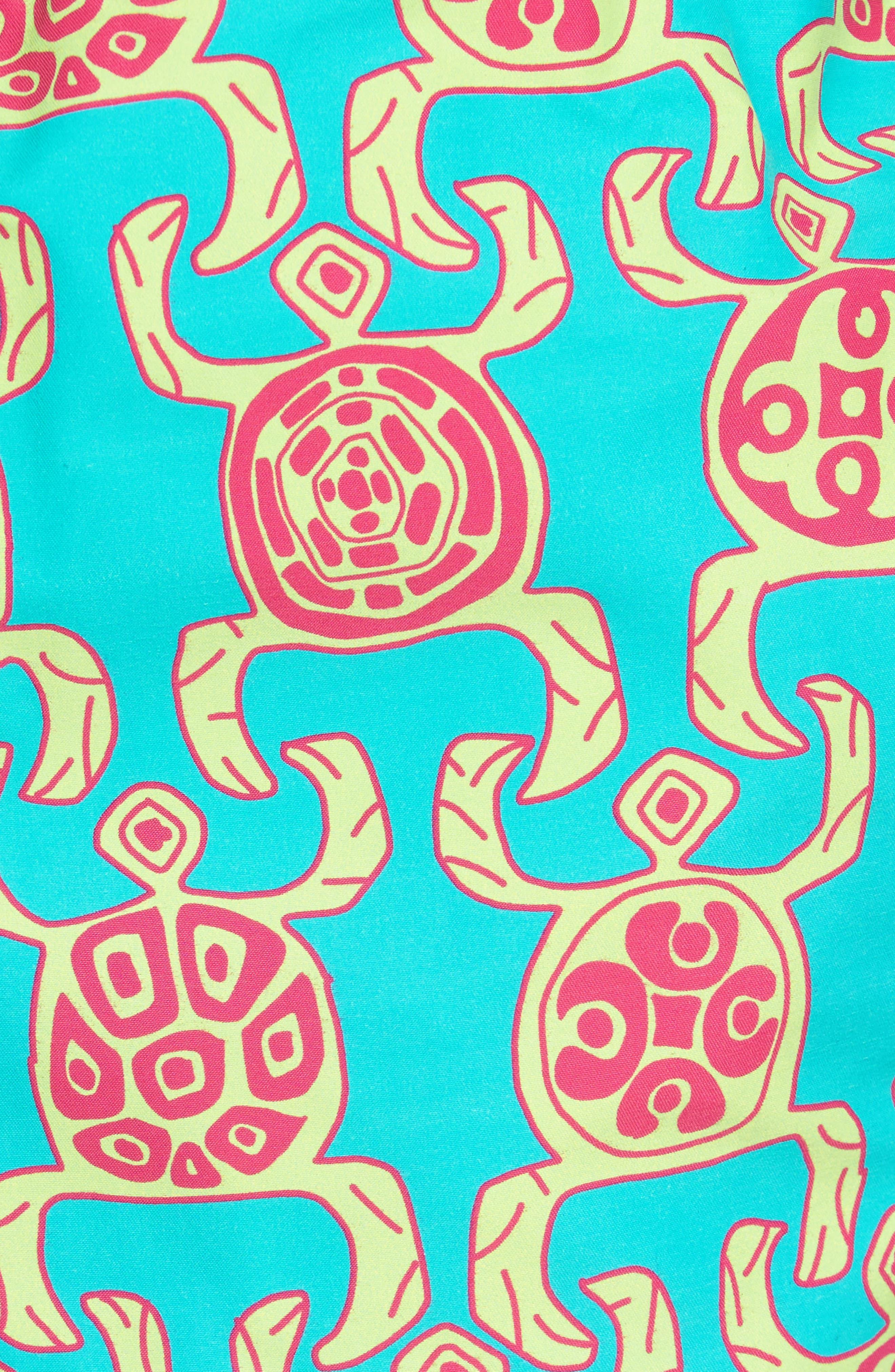 Primitive Turtles Swim Trunks,                             Alternate thumbnail 5, color,                             VERONESE GREEN