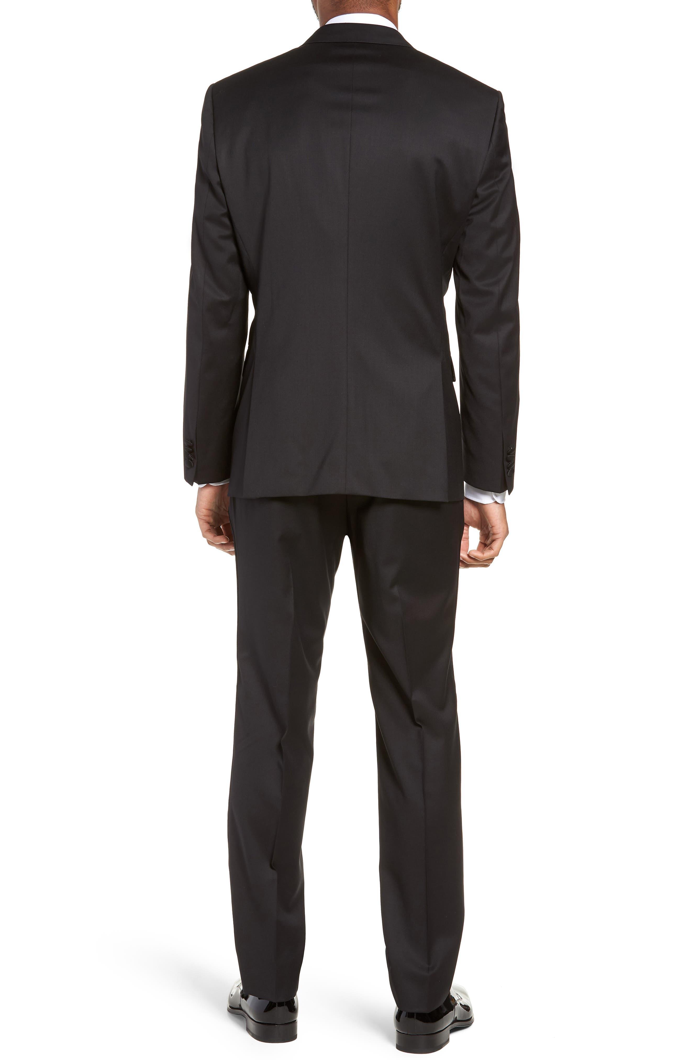 Halven/Gentry Trim Fit Wool Tuxedo,                             Alternate thumbnail 2, color,                             BLACK