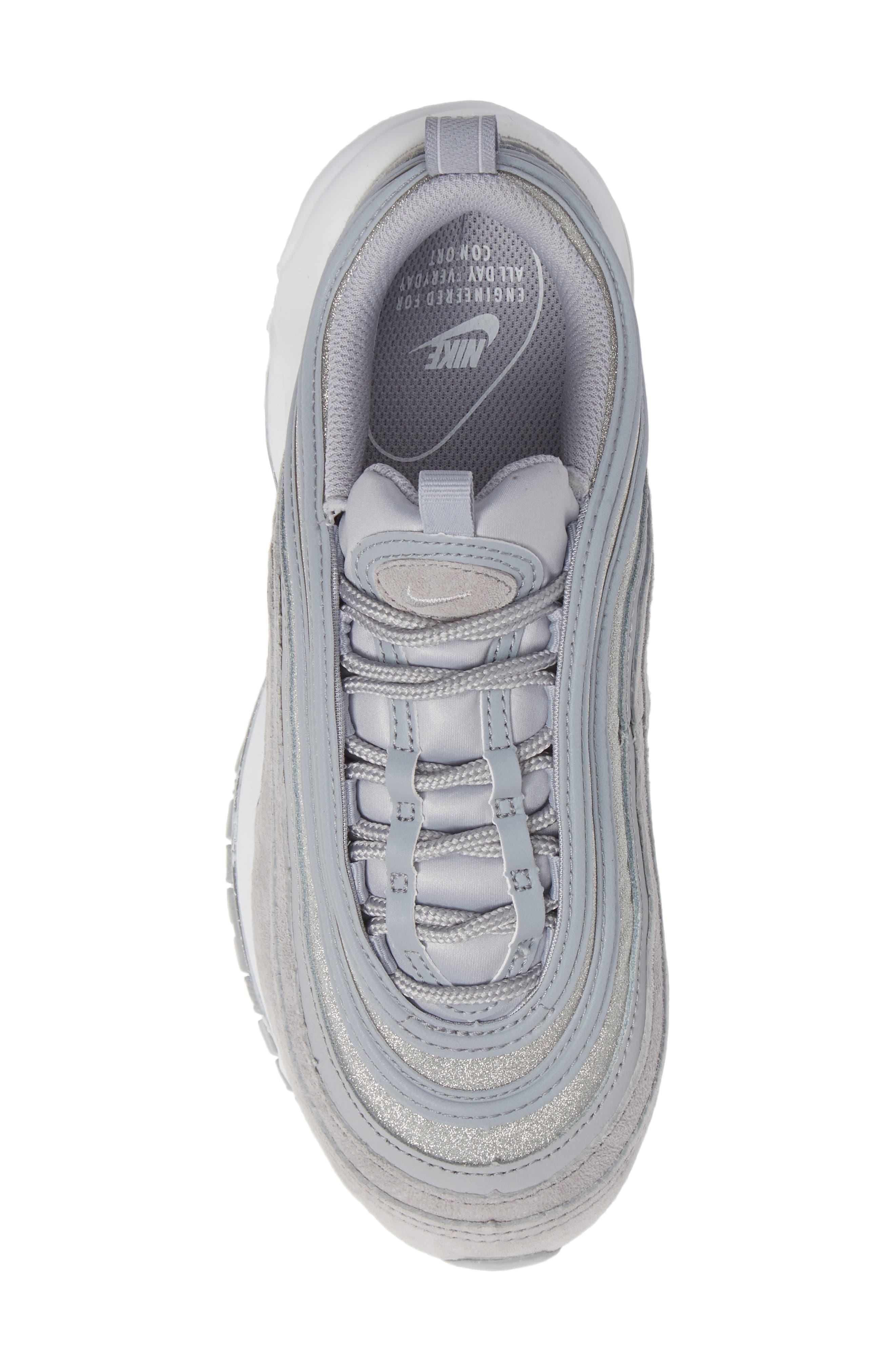 Air Max 97 Sneaker,                             Alternate thumbnail 5, color,                             WOLF GREY/ PLATINUM/ WHITE
