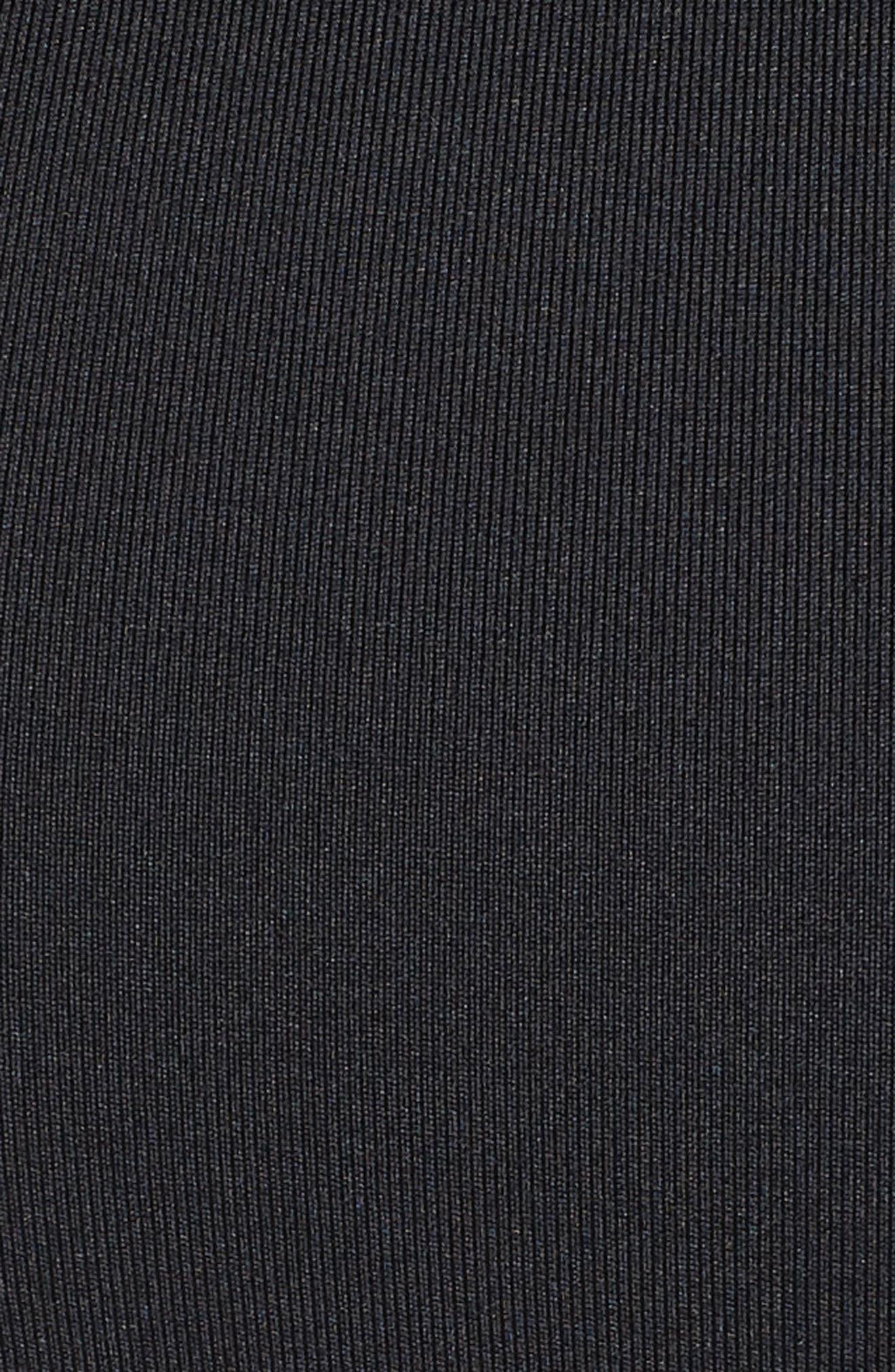 Swoosh Pocket Sports Bra,                             Alternate thumbnail 6, color,                             BLACK/ BLACK/ WHITE