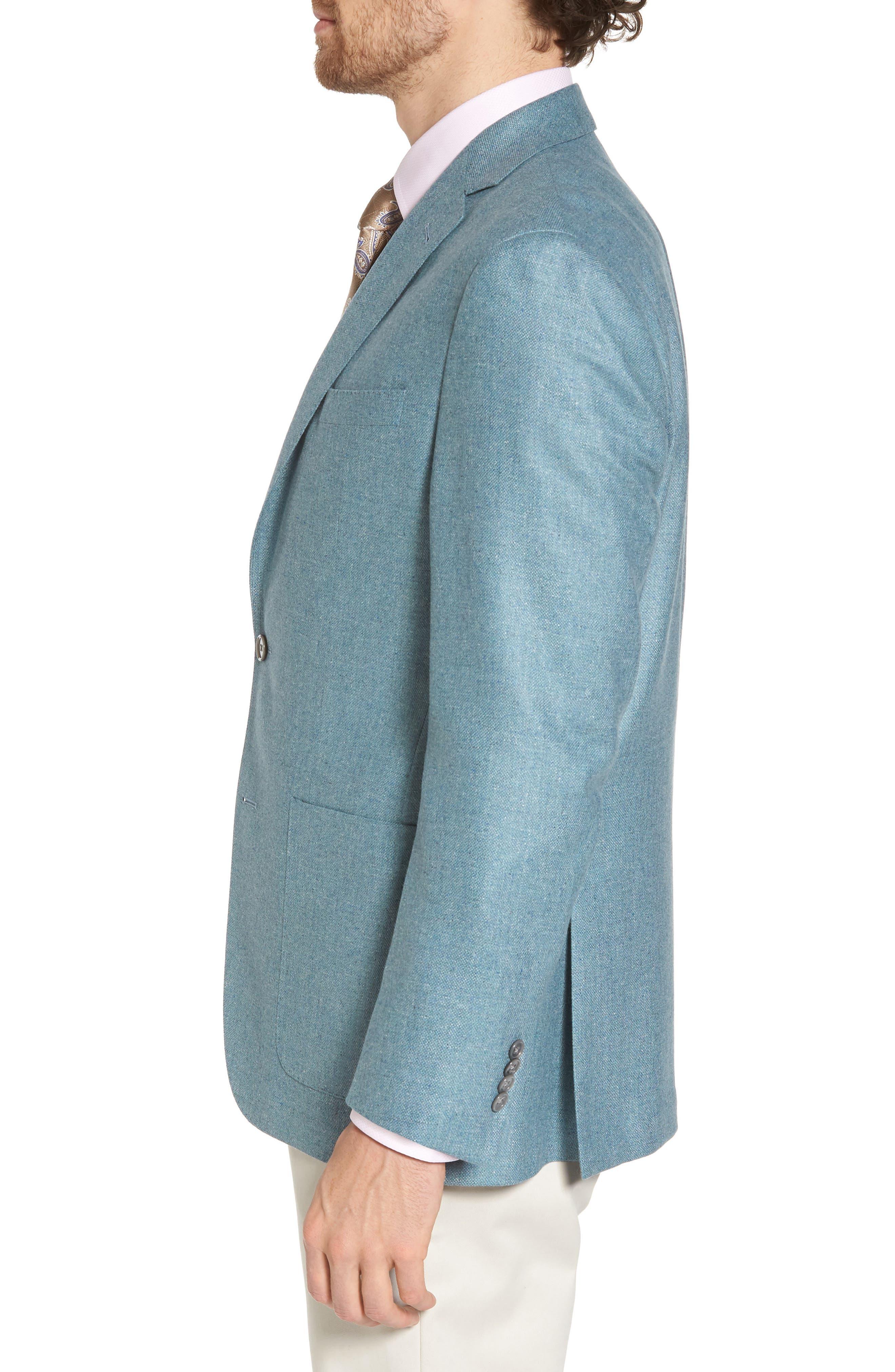 Aiden Classic Fit Silk & Wool Blazer,                             Alternate thumbnail 3, color,