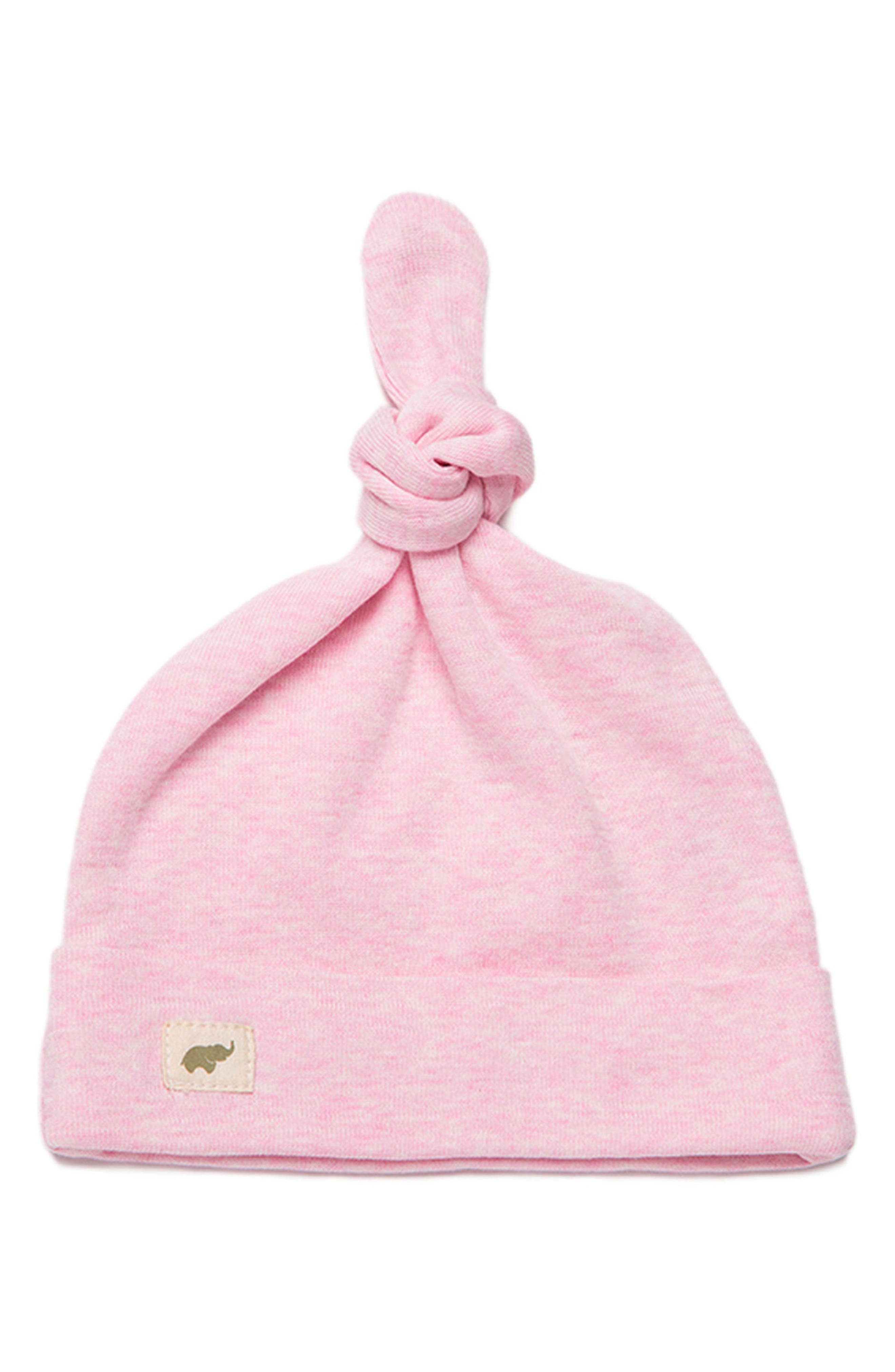 Top Knot Cap, Main, color, PINK HEATHER