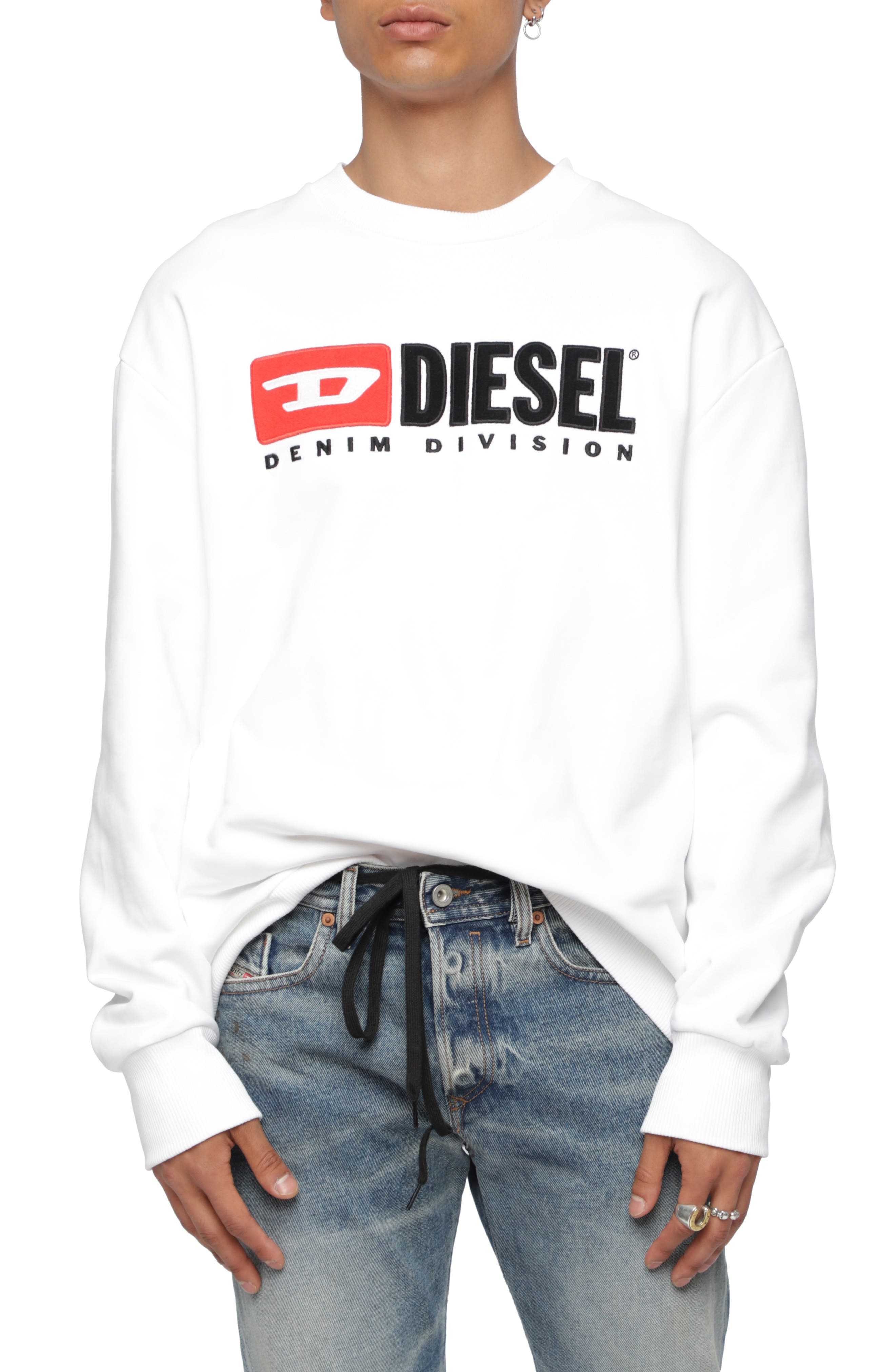 S-CREW-DIVISION Sweatshirt,                             Main thumbnail 1, color,                             WHITE