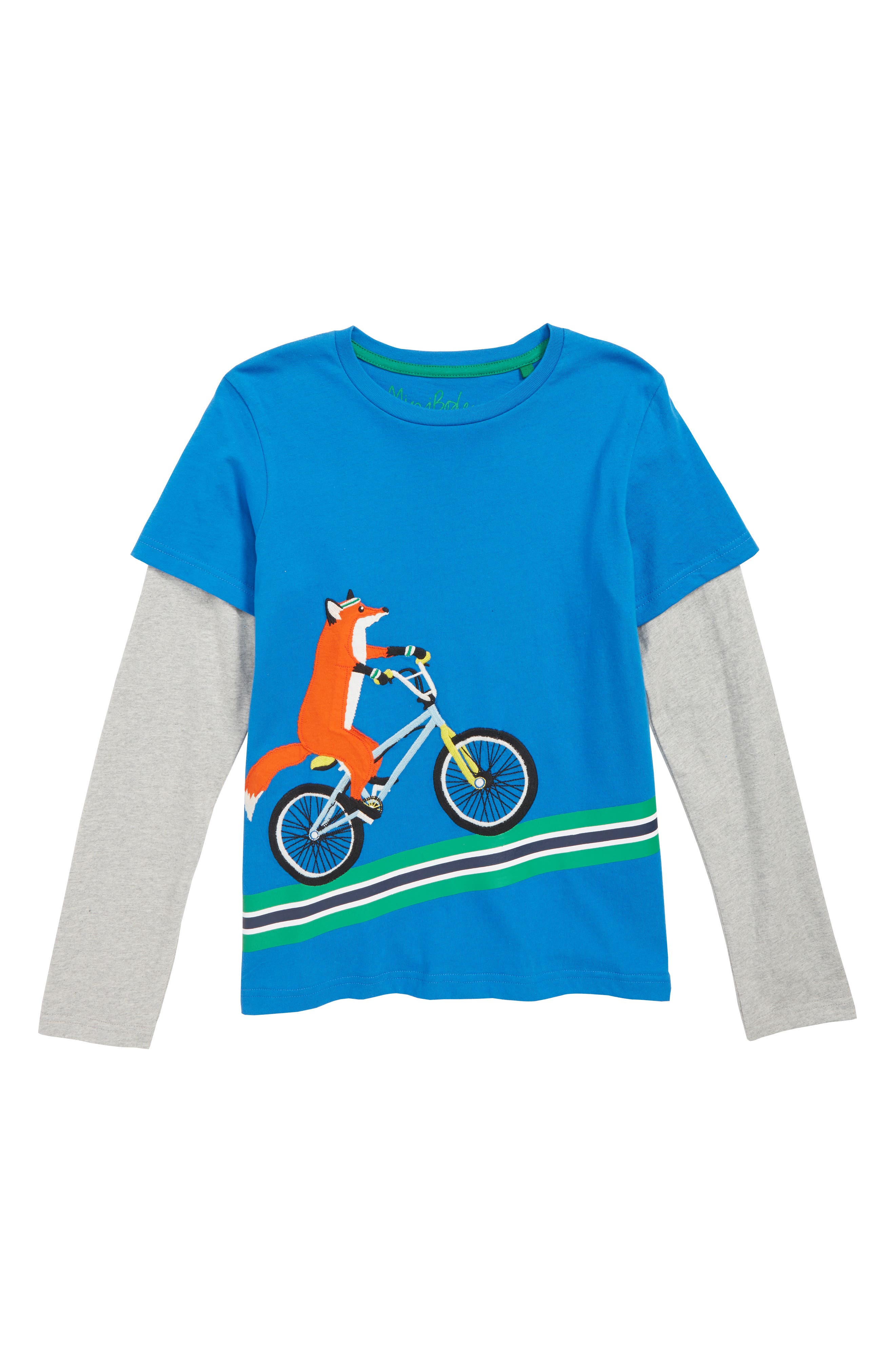 Active Animals Layered T-Shirt,                             Main thumbnail 1, color,                             DAPHNE BLUE