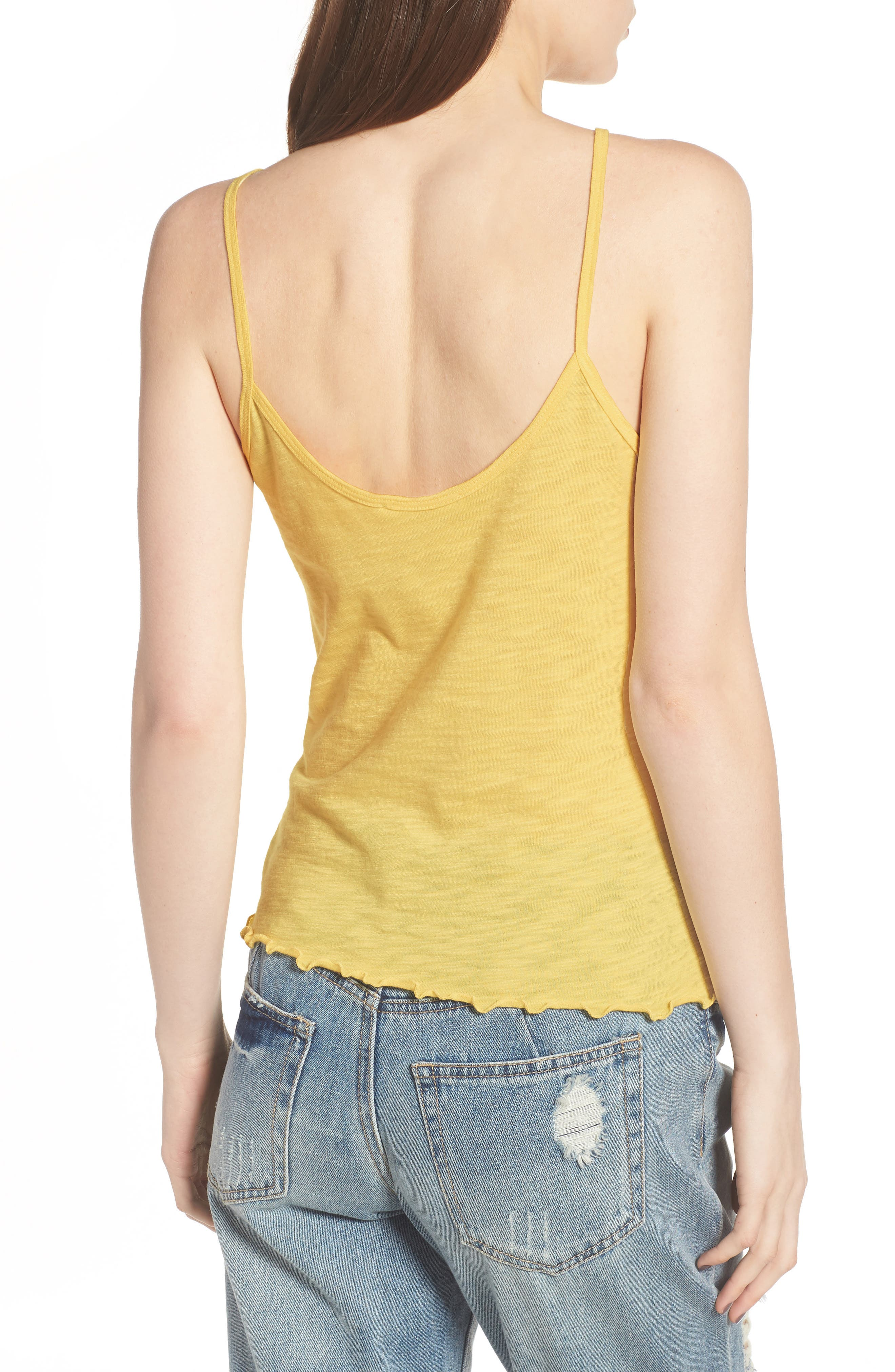 Lettuce Hem Camisole,                             Alternate thumbnail 4, color,