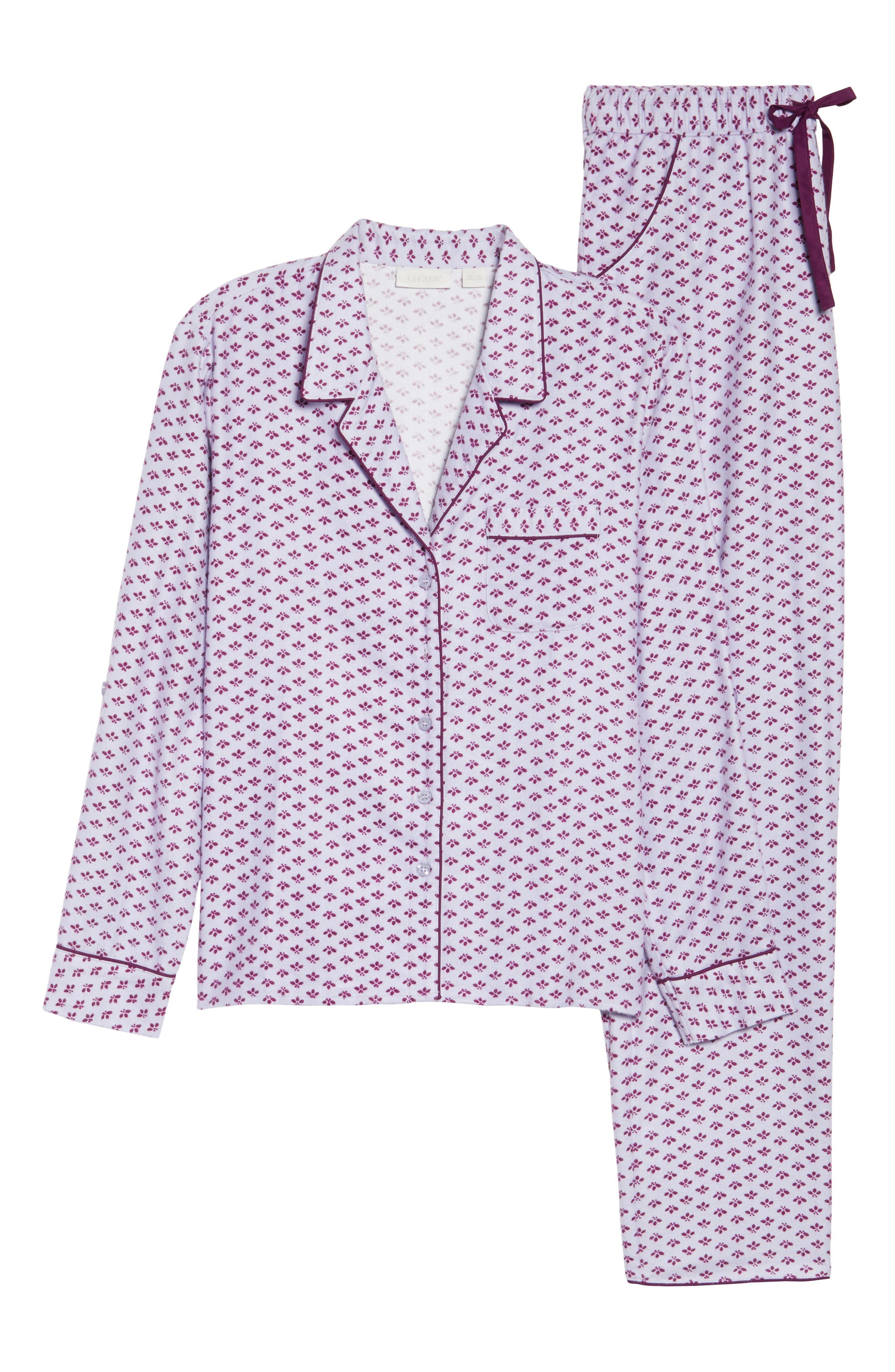 Lingerie Starlight Flannel Pajamas,                             Alternate thumbnail 29, color,