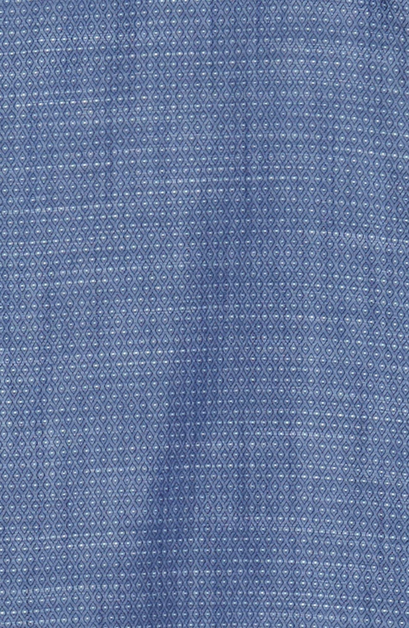 Trim Fit Jacquard Print Sport Shirt,                             Alternate thumbnail 6, color,                             410