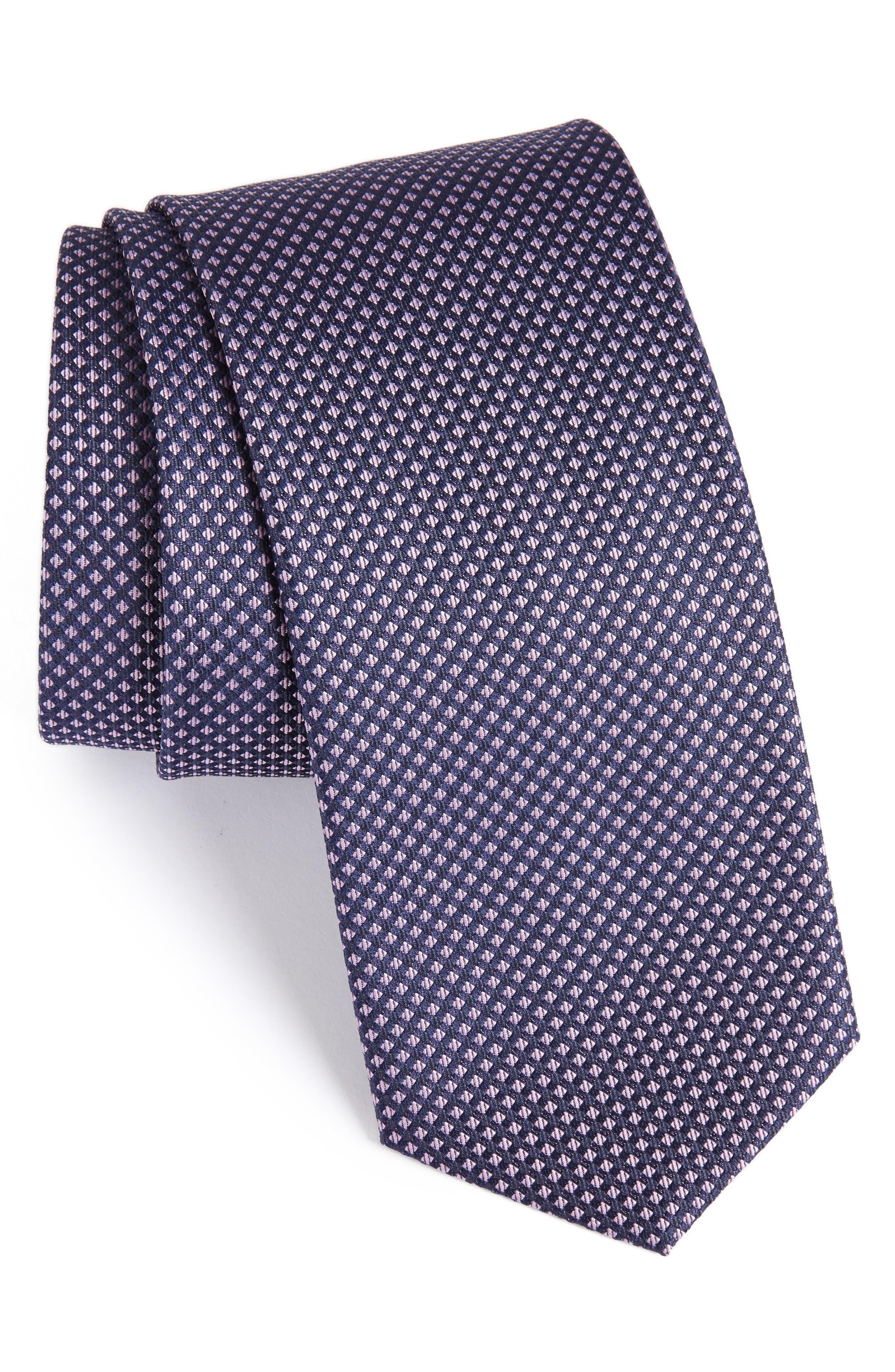 Geometric Silk Tie,                             Main thumbnail 1, color,                             534