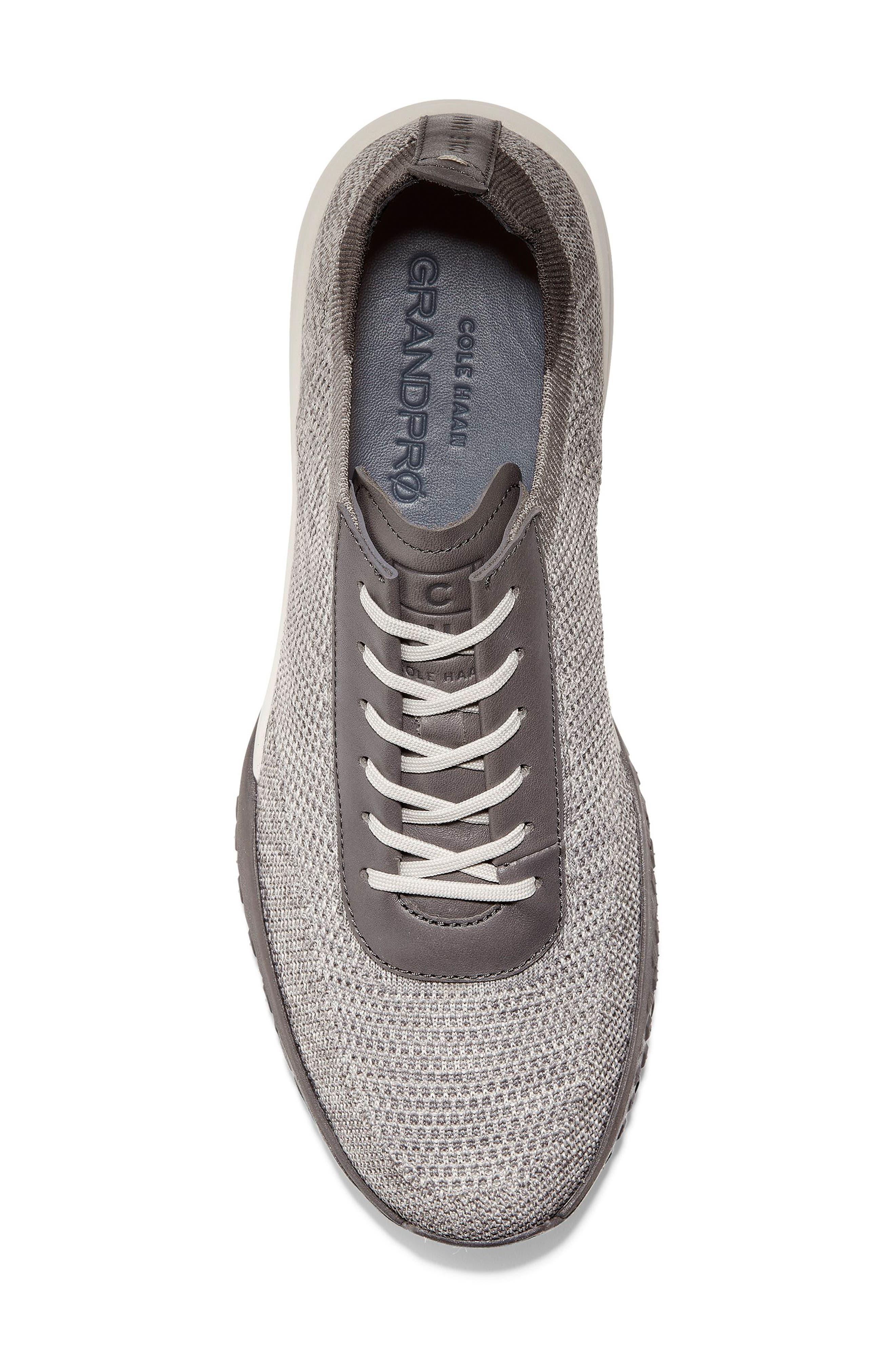 GrandPro Trail Low Stitchlite Sneaker,                             Alternate thumbnail 5, color,                             BLACK/ VAPOR GREY KNIT
